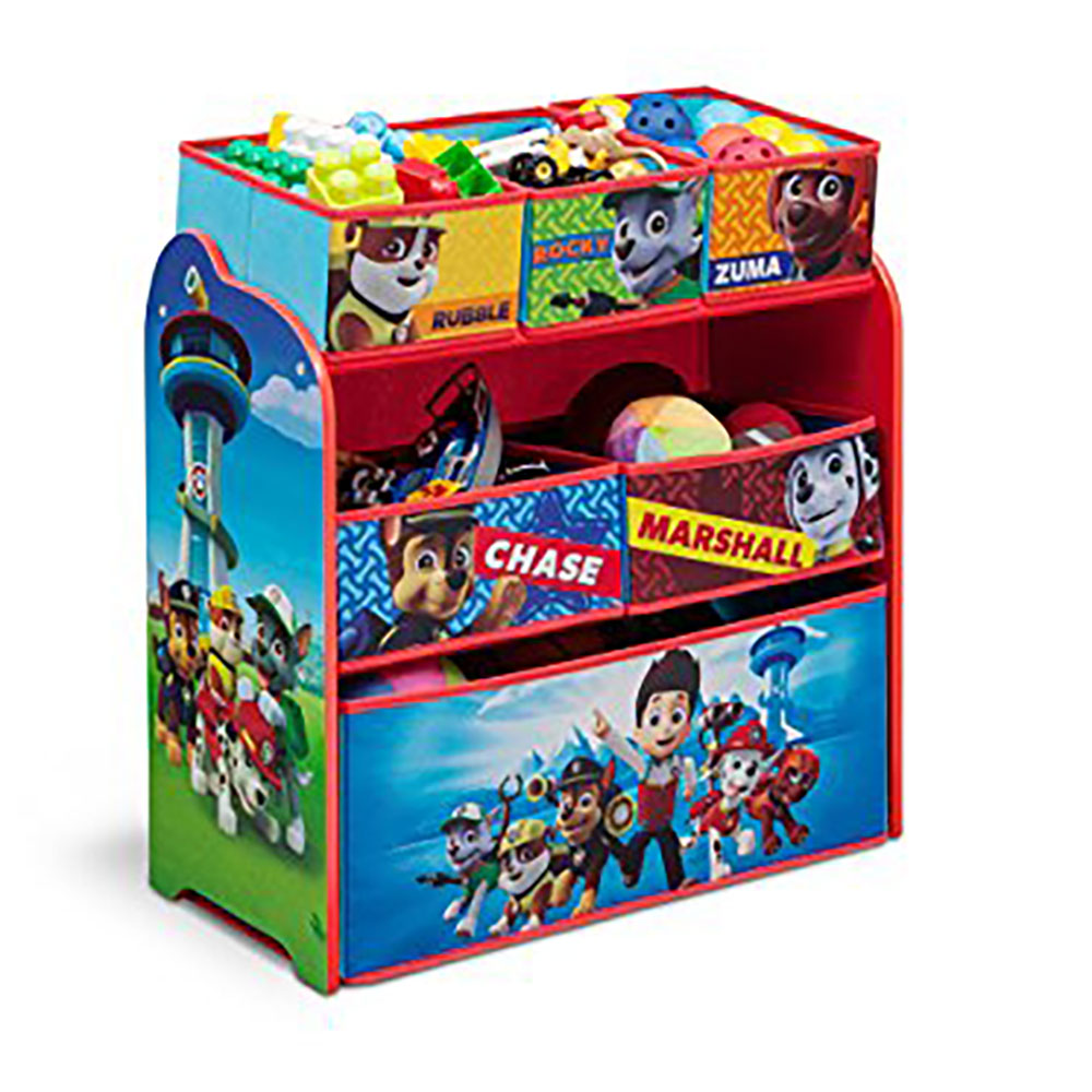 Paw Patrol Kids Toy Organizer Bin Children S Storage Box: Delta Children Nick Jr. Paw Patrol Multi Toy Box Bin Wood
