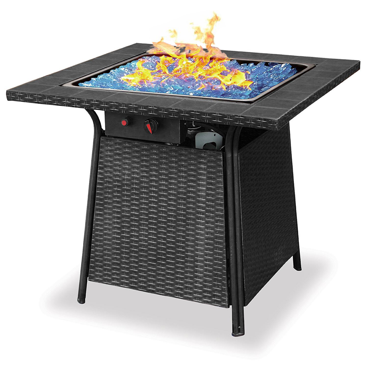 Blue Rhino Endless Summer Outdoor Patio Propane Gas Glass Fire Pit