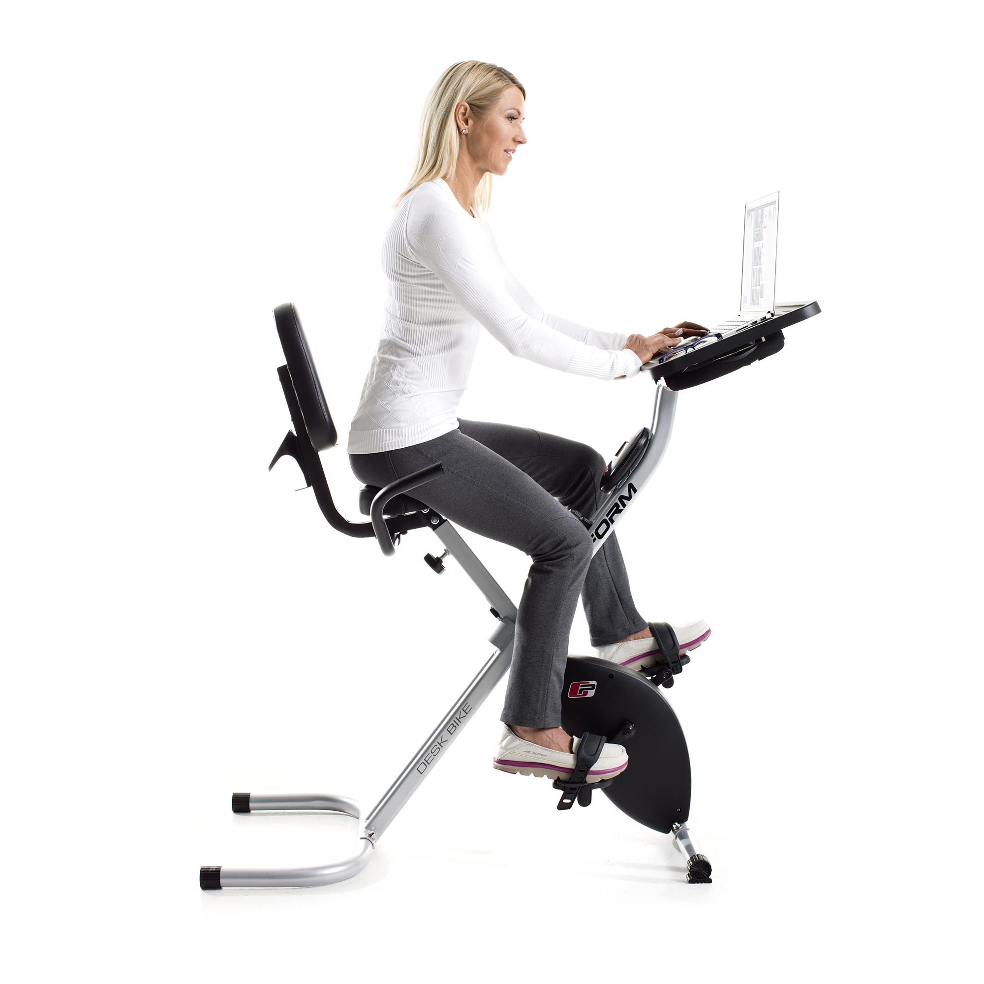Proform Foldable Portable Stationary Fitness Desk Exercise
