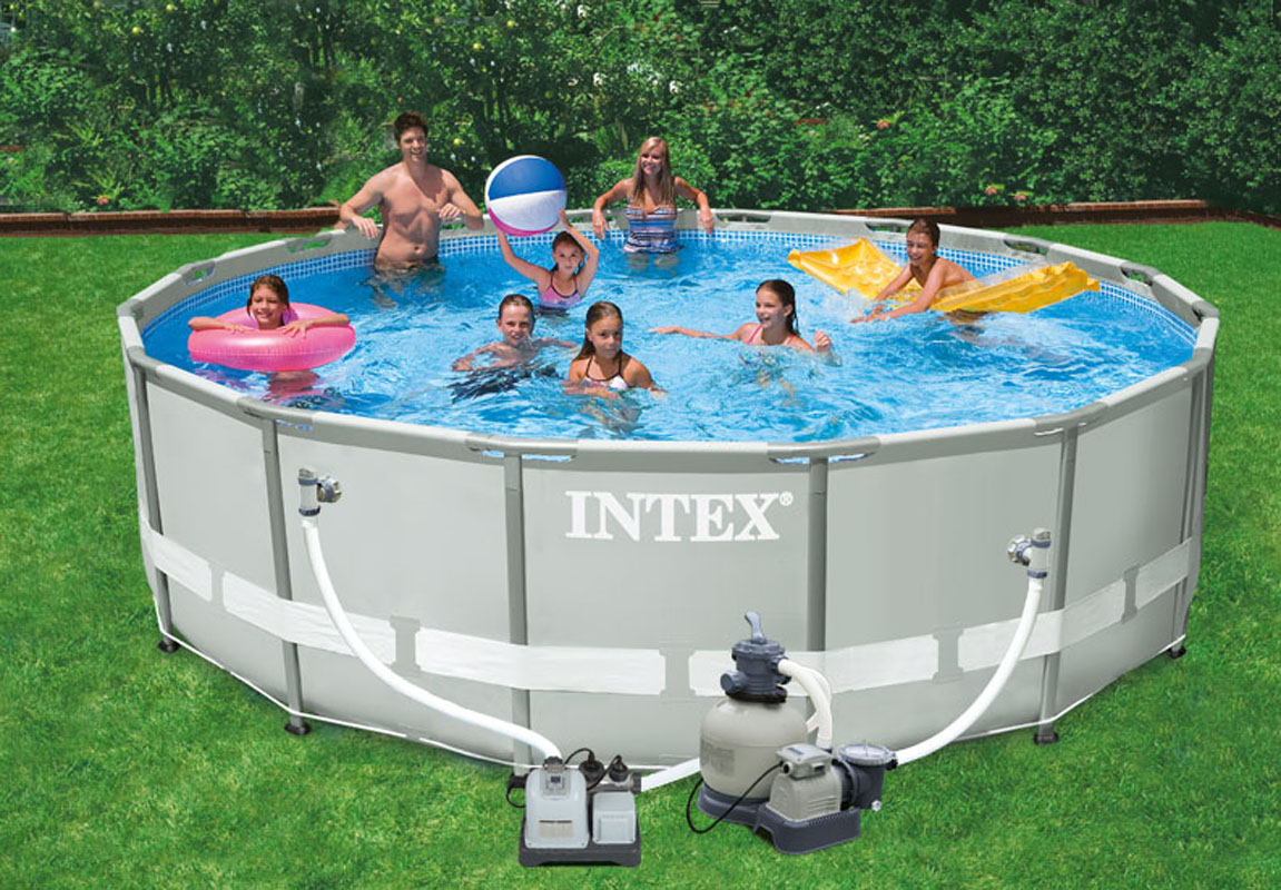 Intex krystal clear saltwater system swimming pool chlorinator 28663eg ebay for Salt filters for swimming pools
