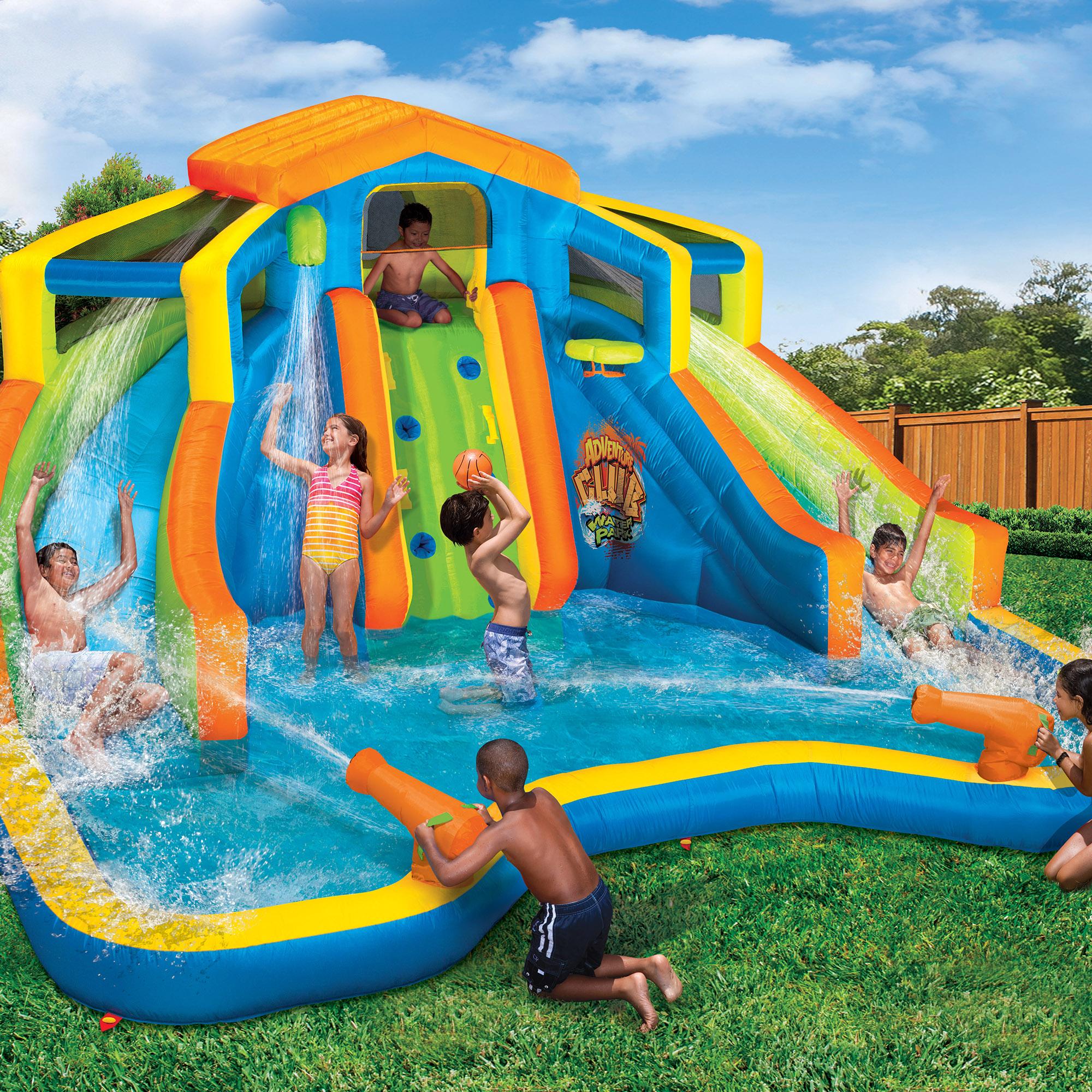 Banzai Inflatable Adventure Club Dual Slide And Pool