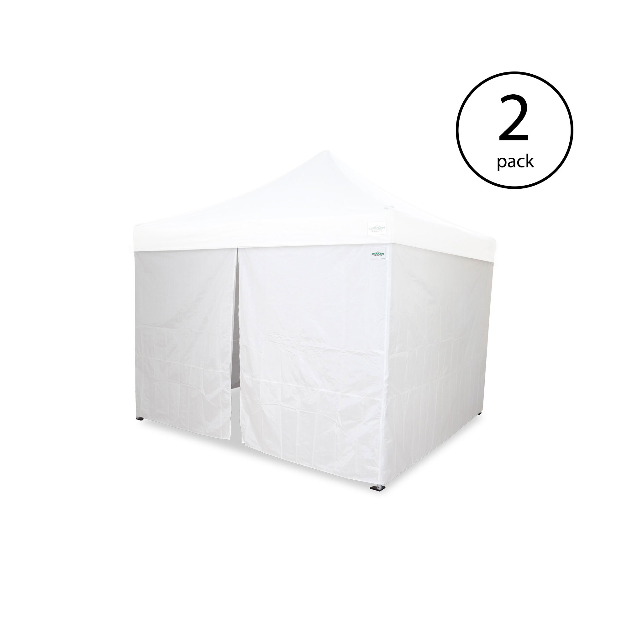 Open Box Blue Caravan Canopy M Series Pro 2 12 x 12 Foot Straight Leg Canopy