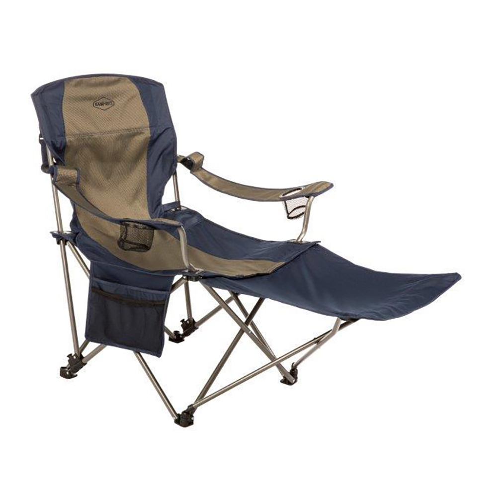 kamp rite outdoor folding tailgating camping chair with detachable footrest ebay. Black Bedroom Furniture Sets. Home Design Ideas
