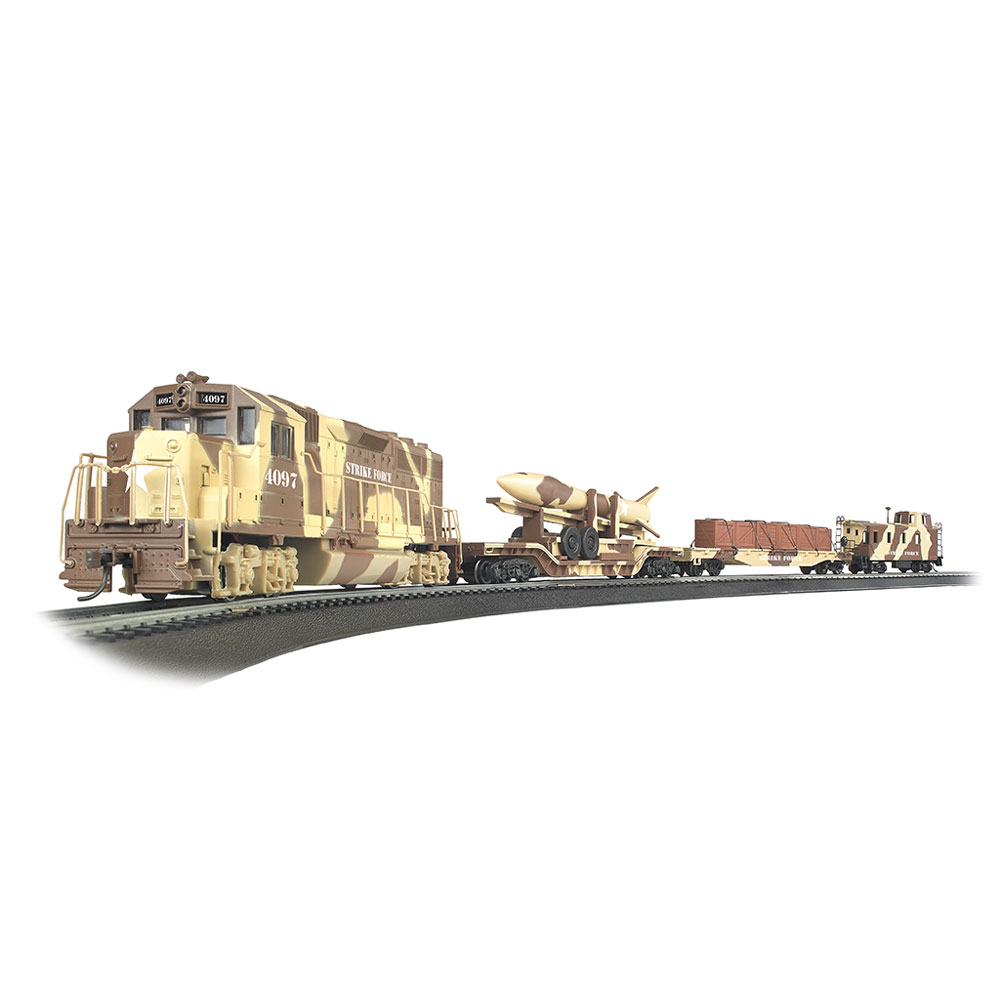 Details about Bachmann Trains Strike Force Military 1:87 Ho Scale Electric  Model Train Set