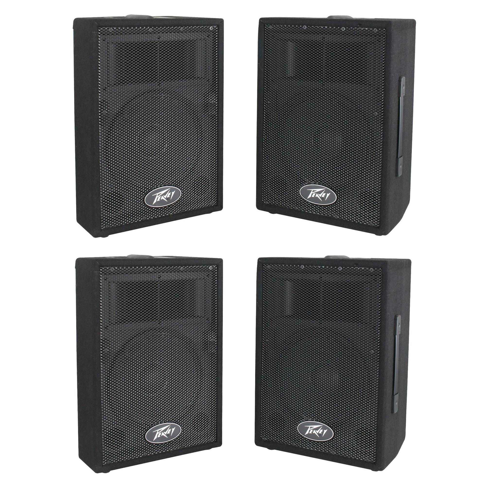 Peavey dj 2 way 100 watt pa speaker system with 10 for Woofer speaker system