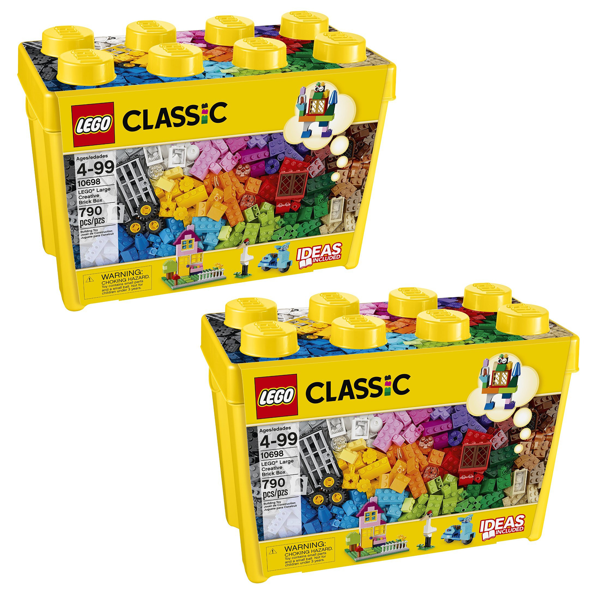 207759a21d7d Details about LEGO 10698 Classic Creative Bricks Kids 790 Piece Building Box  Sets (2 Pack)