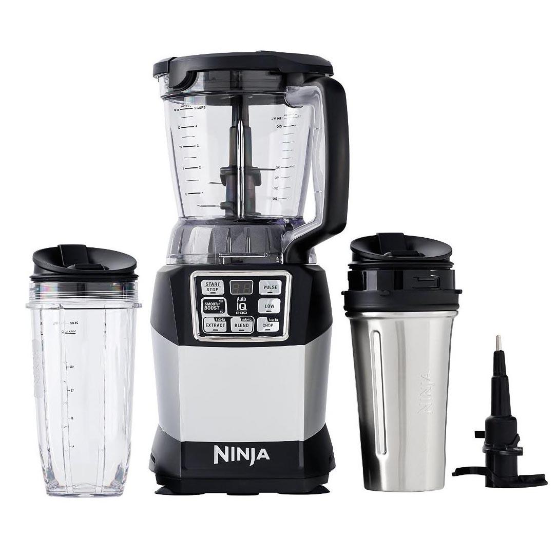Ninja Bl700 Kitchen System: Nutri Ninja Auto IQ Compact Blender W/ Food Processor Bowl