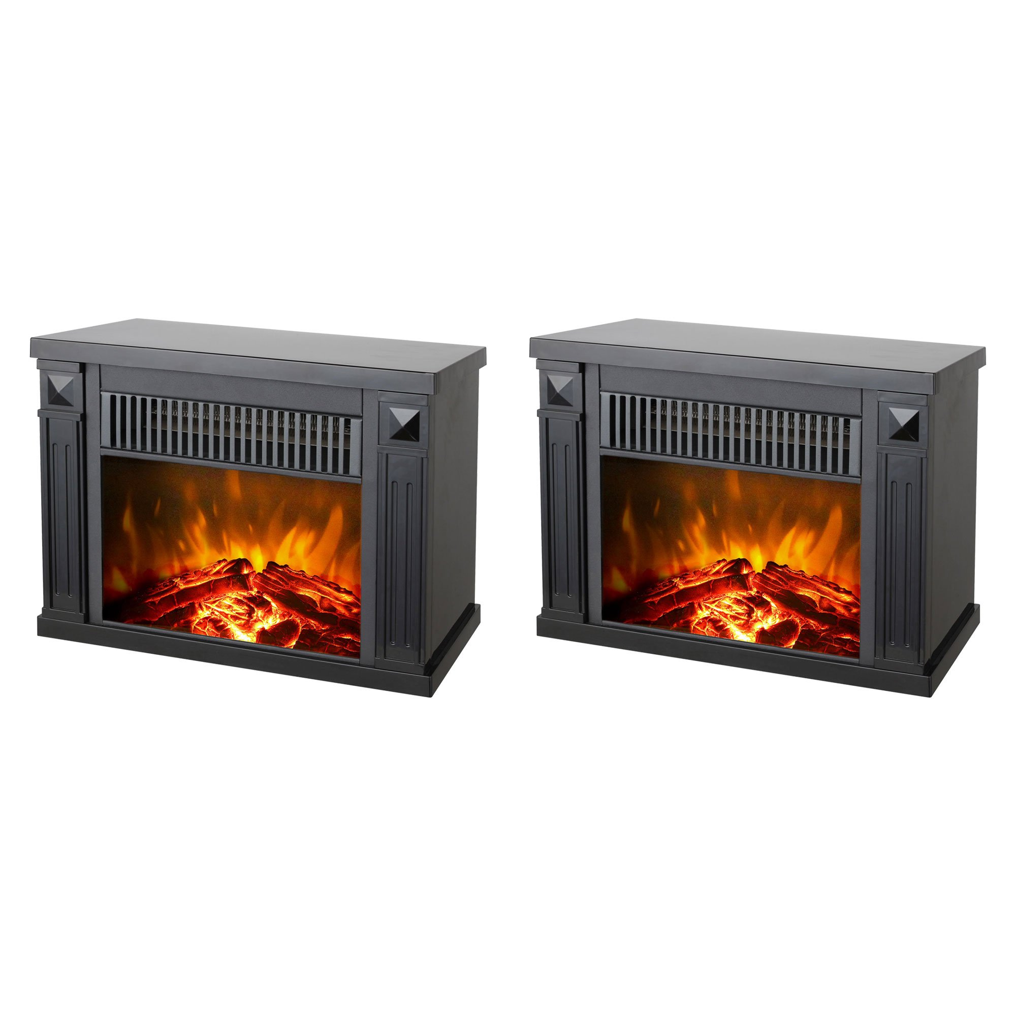 Konwin Small Electric Tabletop Artificial Faux Fireplace Space
