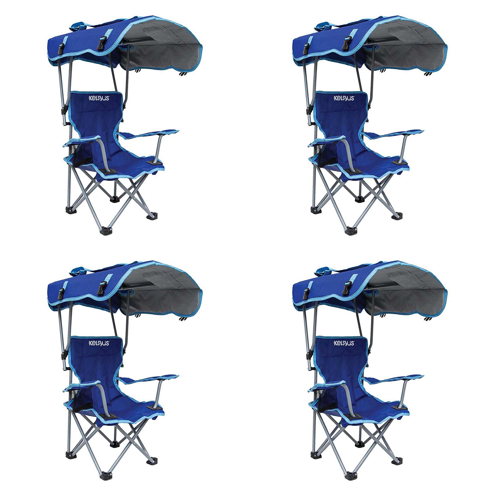 Remarkable Details About Kelsyus Kids Original Canopy Folding Backpack Lounge Chair Blue 4 Pack Customarchery Wood Chair Design Ideas Customarcherynet