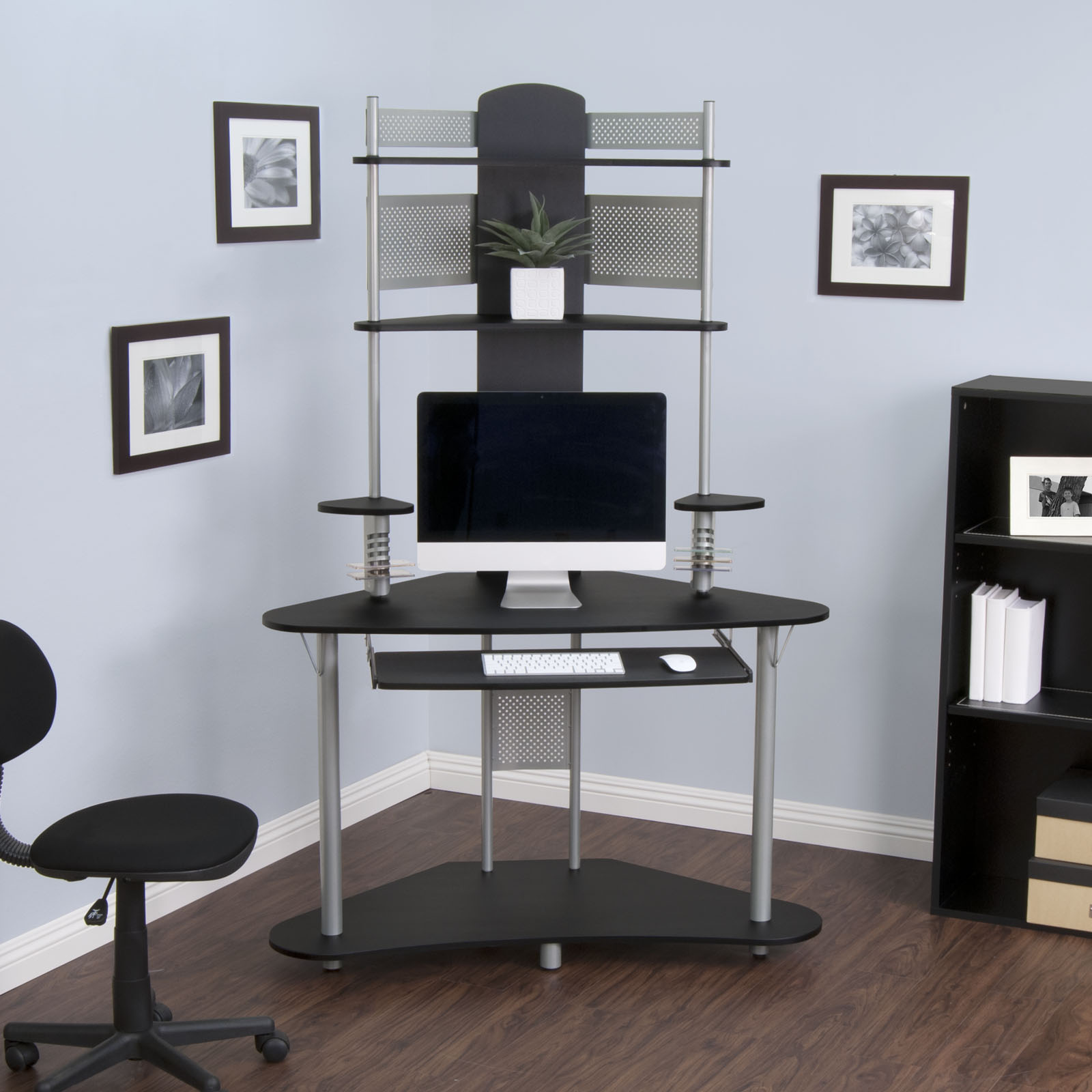 Studio Designs Home Office Furniture Arch Tower Computer Desk Silver And Black