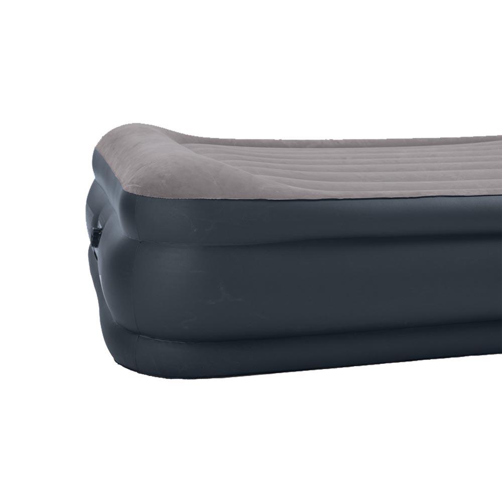 Intex Deluxe Raised Pillow Rest Air Mattress with Built-In Pump, Queen |  67737E