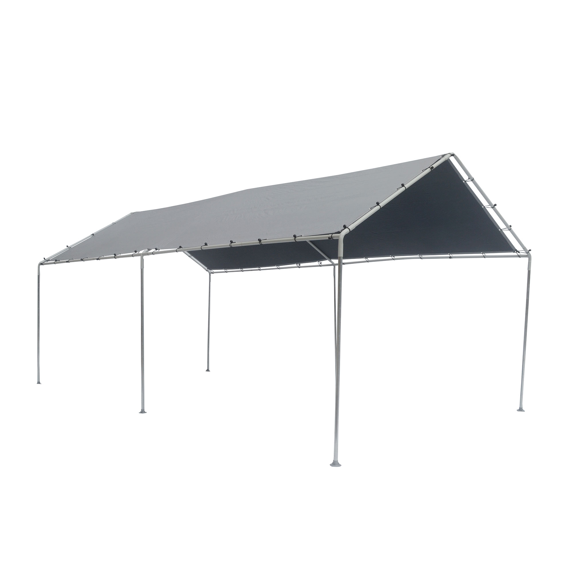 10 x 20 ft Car Port Canopy Gazebo Tent Cover - 6 Leg Steel Frame ...