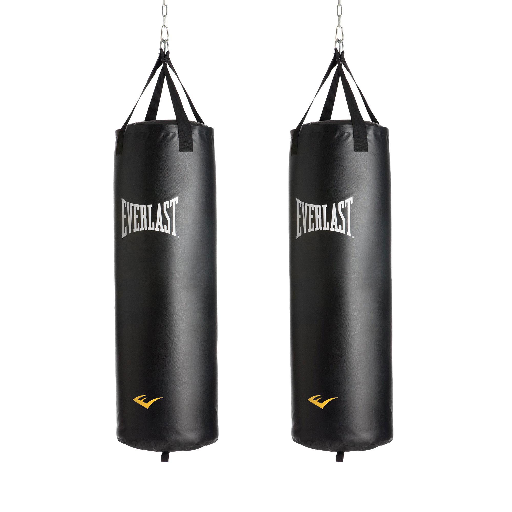 Everlast Nevatear 40 Lb Kick Boxing Punching Training Heavy Bag Black 2 Pack