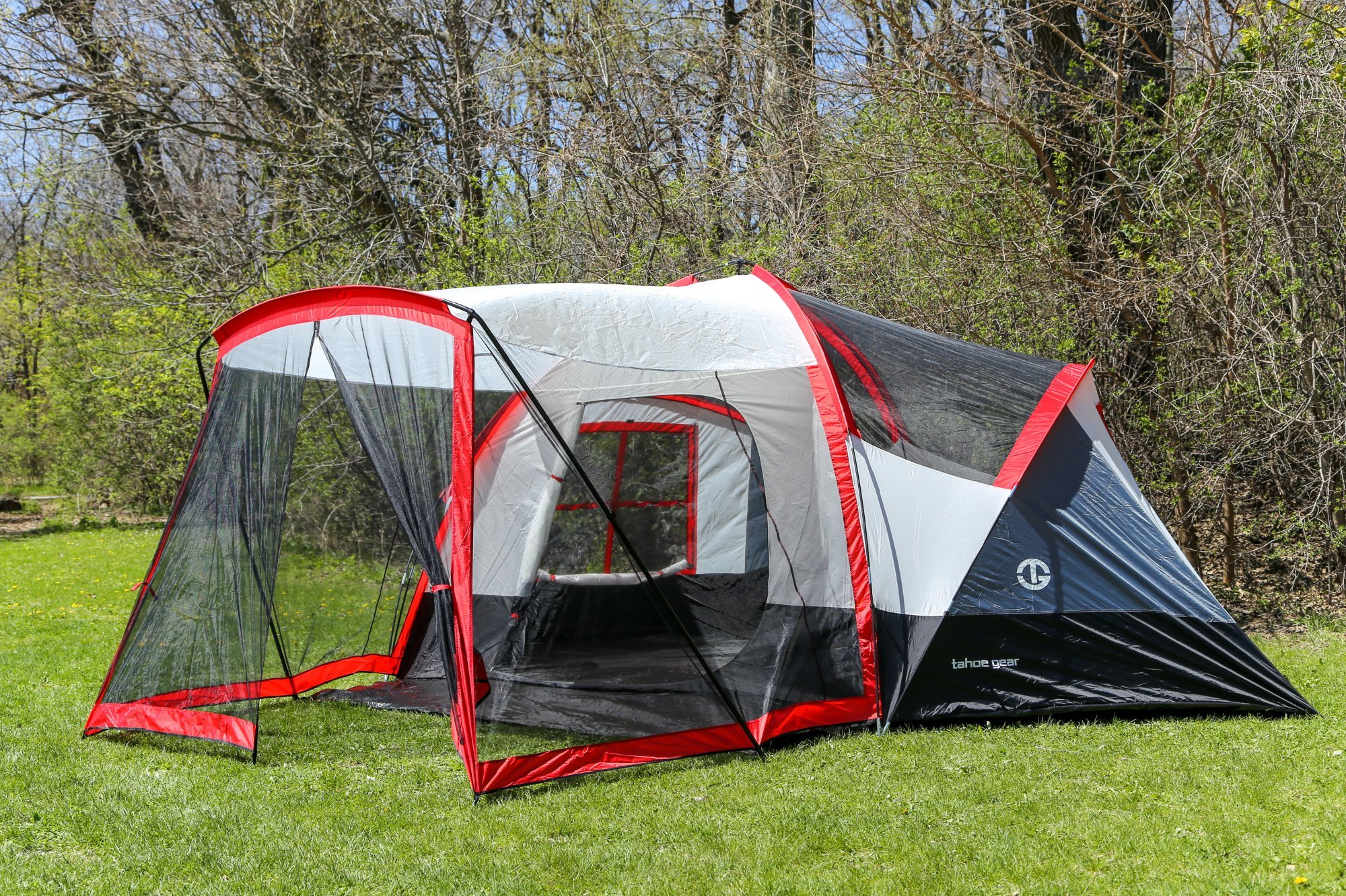 Tahoe Gear Zion 9-Person 3-Season Camping Tent And Screen ...