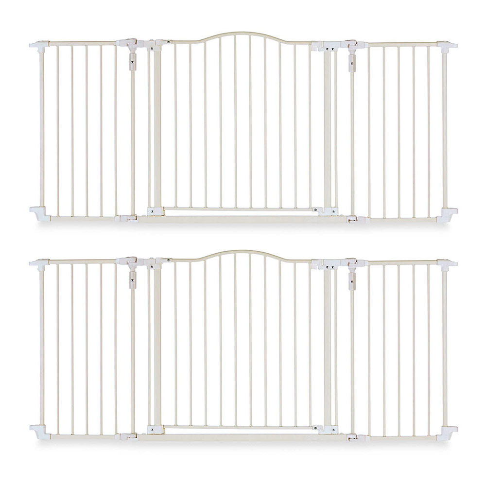 North States Deluxe Decor Baby Pet Metal Gate Linen 38 72 Inches