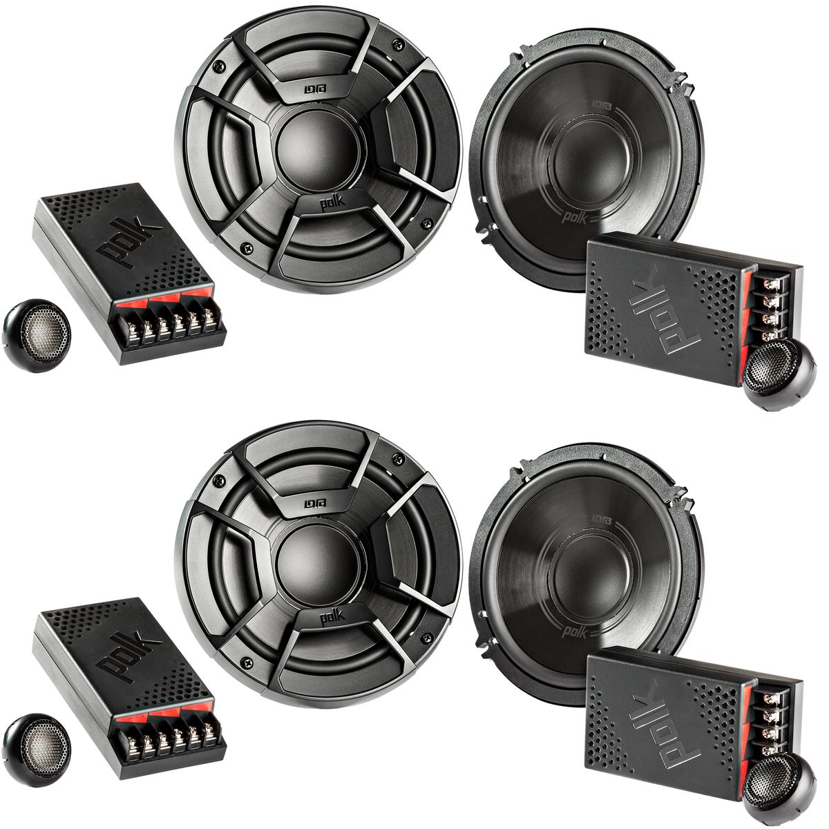 2 Polk Audio DB6502 6.5 300W 2 Way Car//Marine ATV Stereo Component Speakers