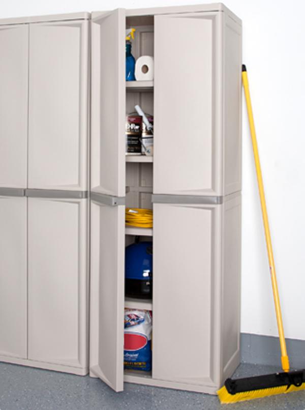 Sterilite 4 Shelf Cabinet With Bonus 5, Sterilite Garage Storage Cabinets