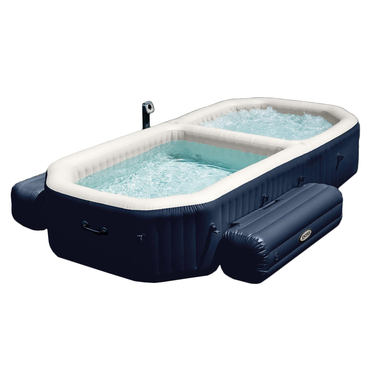 Intex PureSpa 4 Person Inflatable All in One Bubble Massage Hot Tub ...
