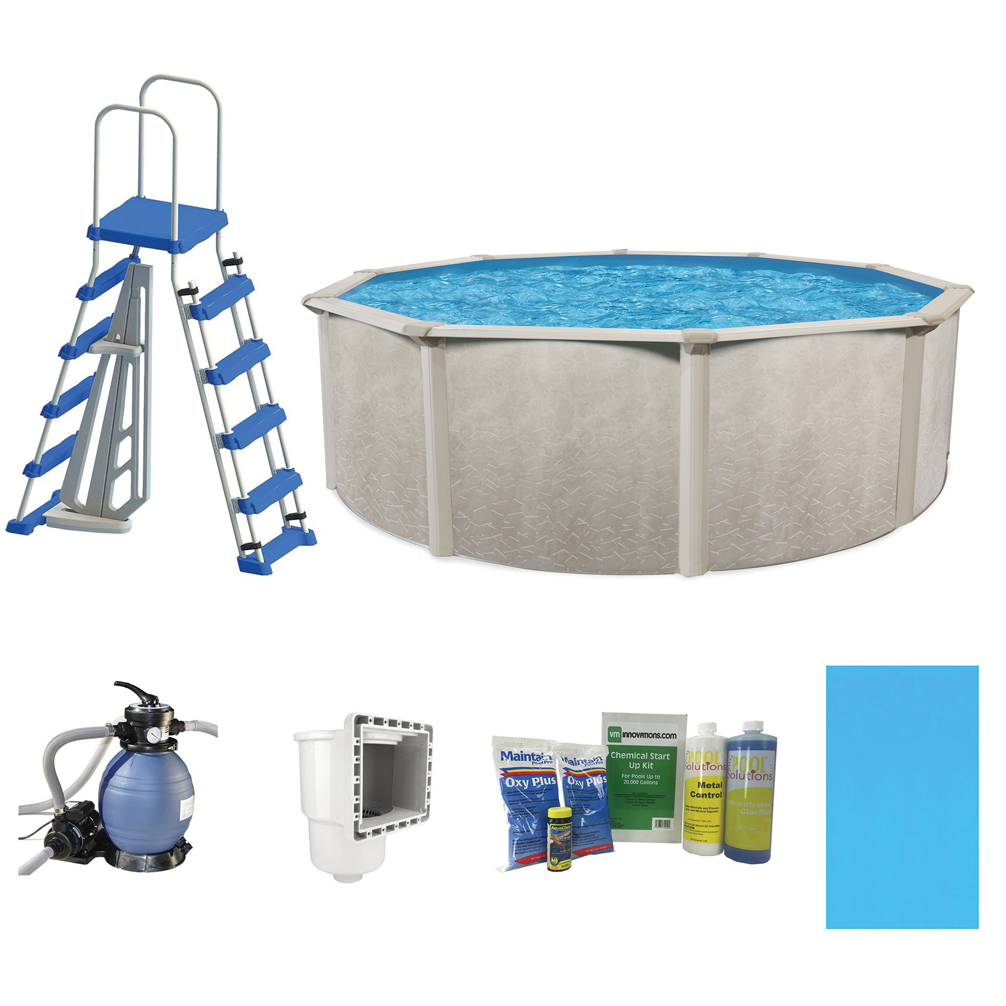 Cornelius pools phoenix 18 39 x 52 frame above ground pool kit with pump ladder ebay for Swimming pool pumps for above ground pools