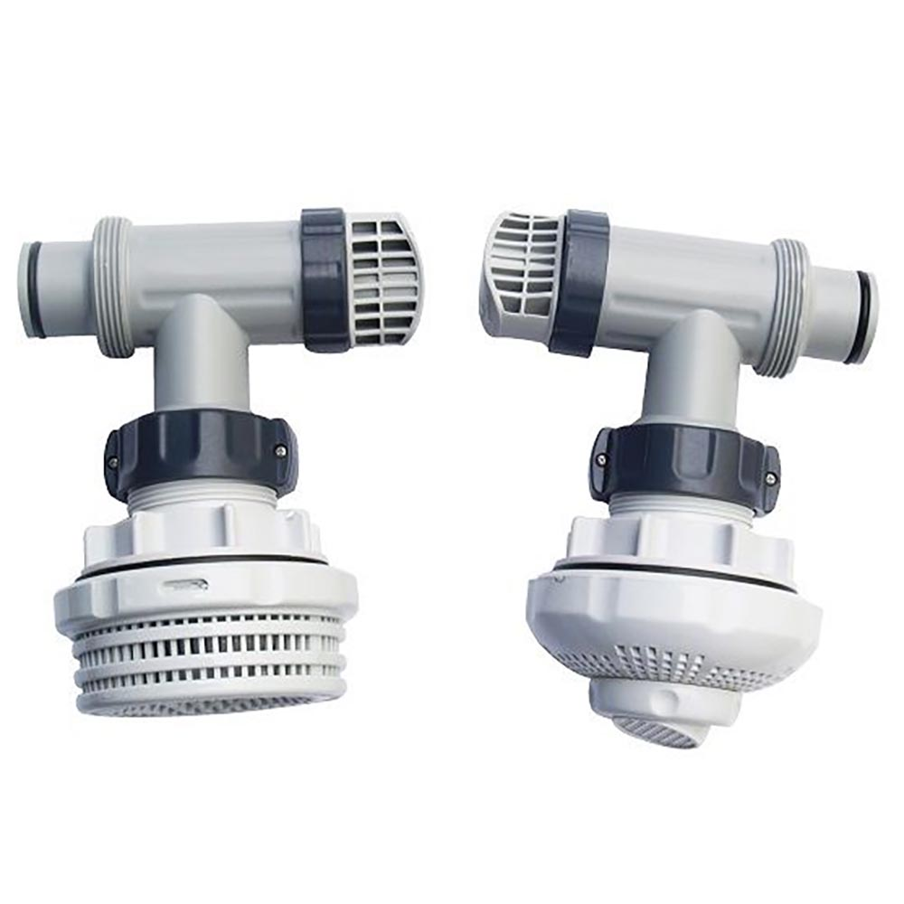 Intex 1 5 Inch Above Ground Pool Inlet Outlet Strainer Fittings Set 26073rp Ebay