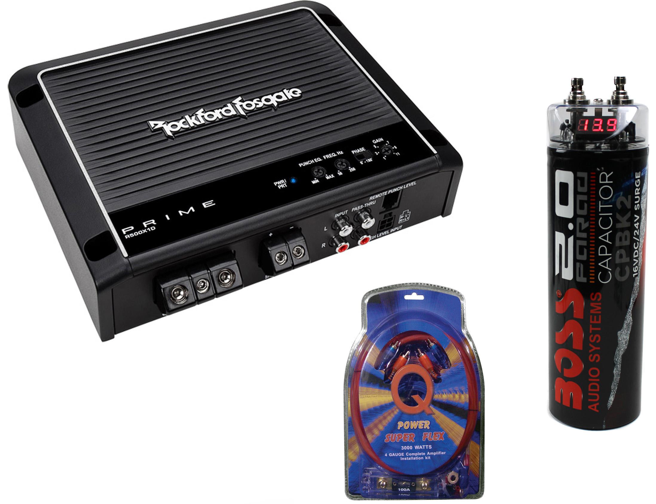 Vm Audio Srsk4b 4 Gauge Ga Car Amplifier Amp Wiring Kit 2 Farad Power