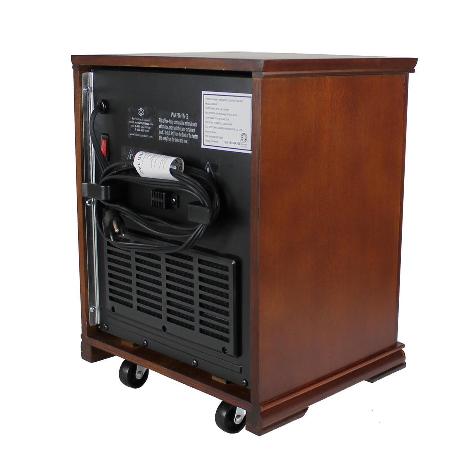 Lifesmart Lifepro Dark Oak 1500 Watt Infrared Electric