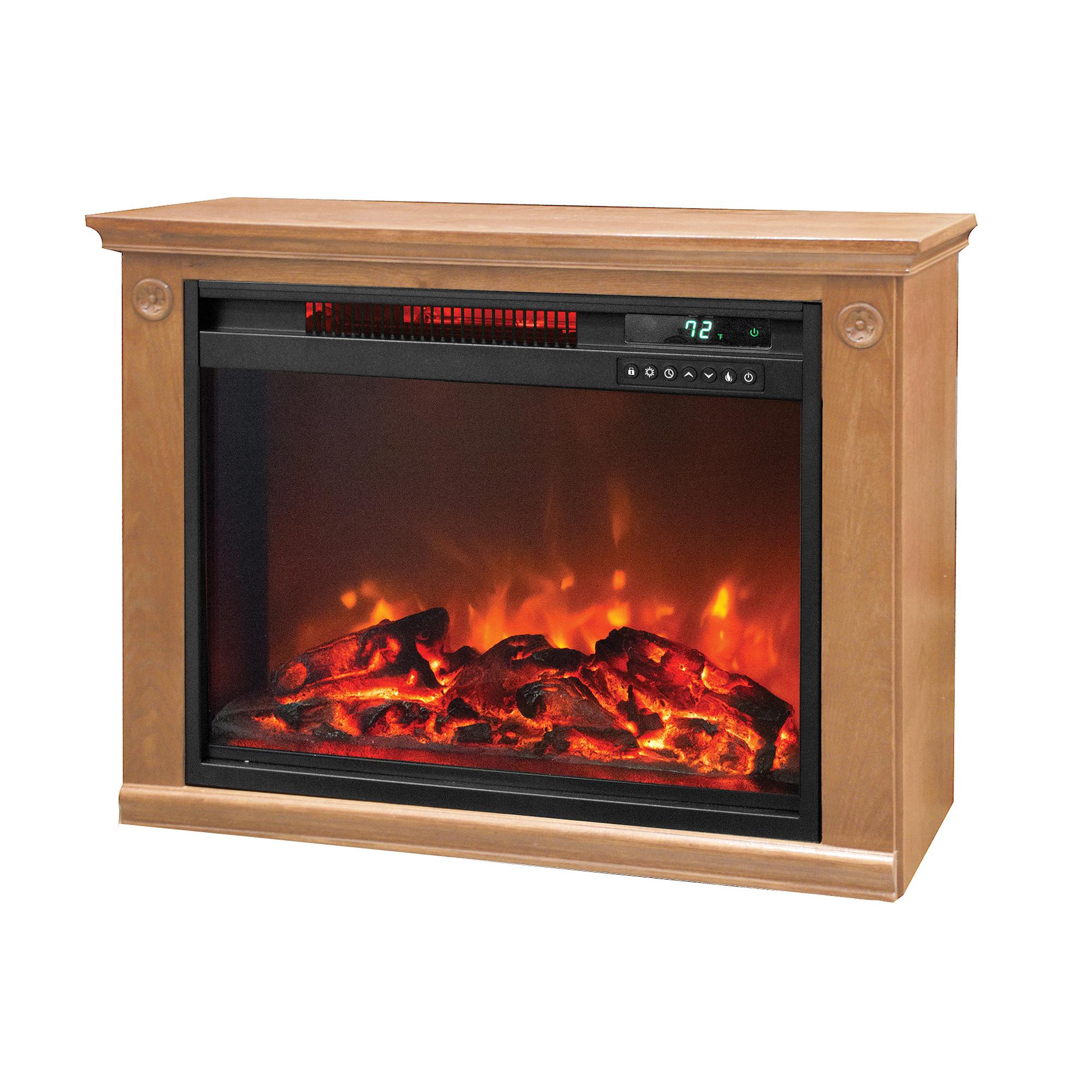 Lifesmart 1500 Watt Large Infrared Quartz Electric Fireplace Heater Open Box