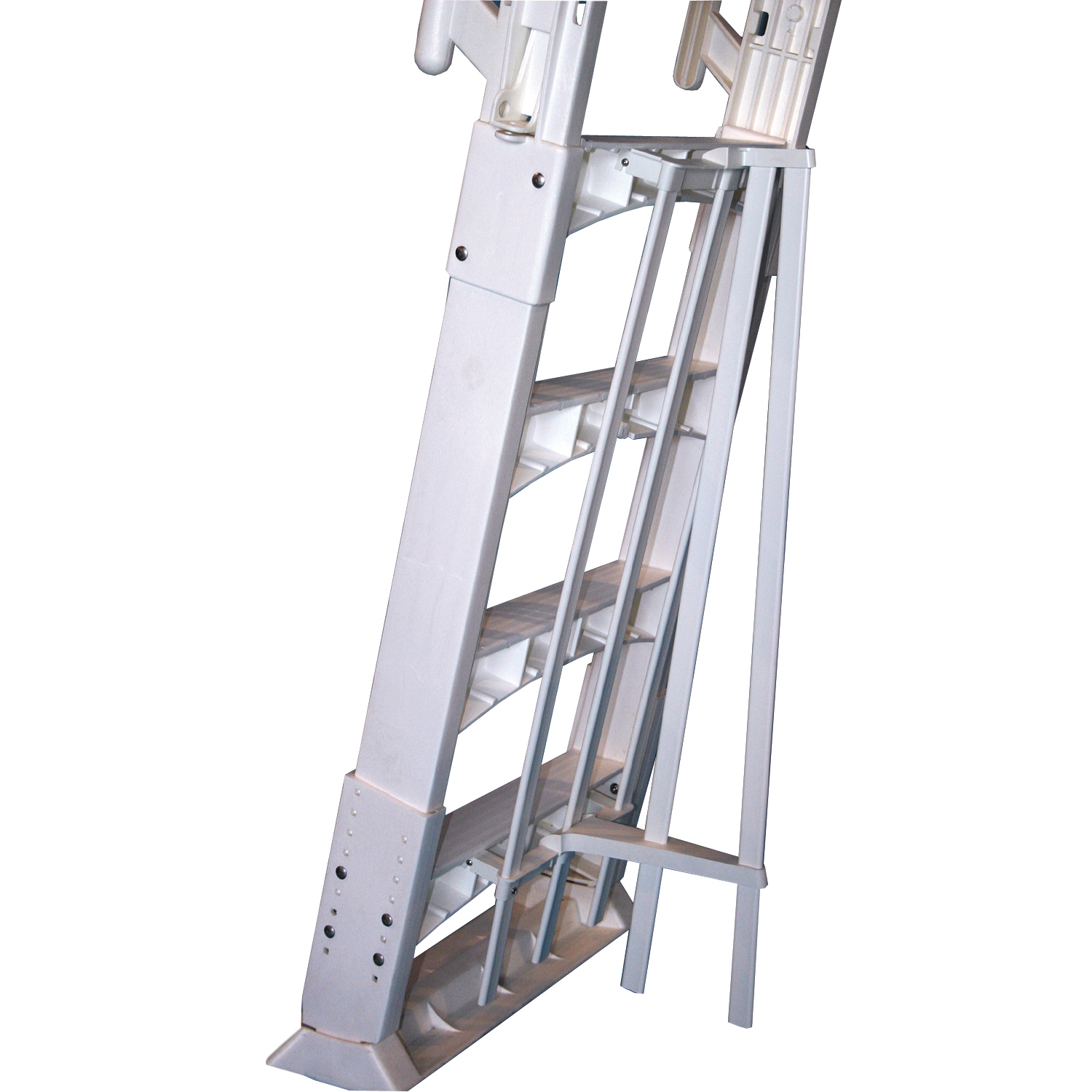 Vinyl Works A Frame Ladder with Barrier for Swimming Pools 48 to 56 ...