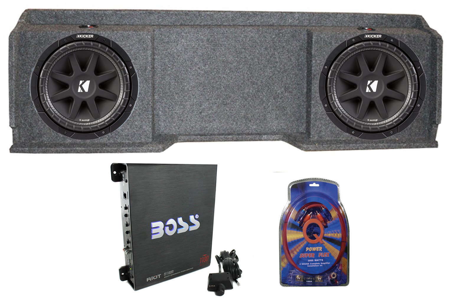 Boxes To Make Your Bass Go Boom Subwoofer Enclosure Dual Wiring Kit With 14 Gauge Speaker