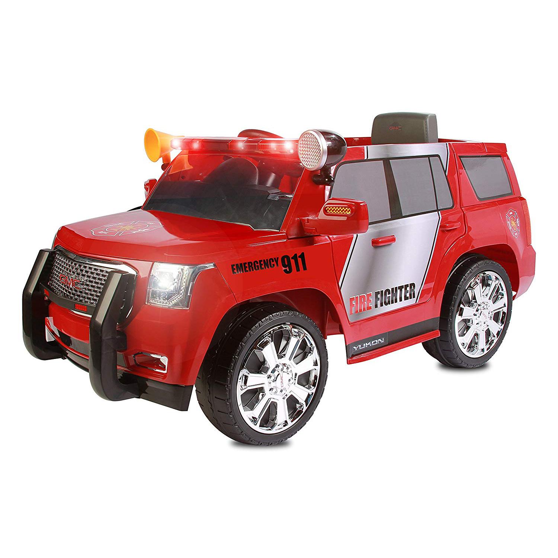 Rollplay 6v Kids Electric Battery Ride On Toy Car Gmc Yukon Denali Fire Rescue