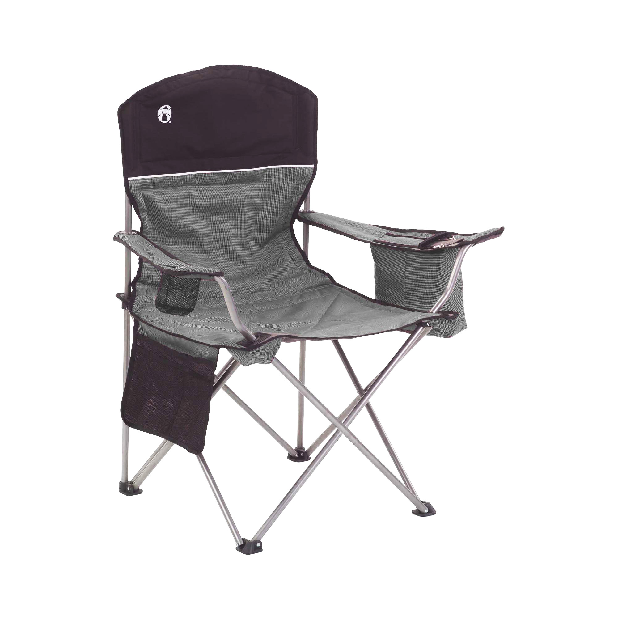 Coleman Oversized Black Camping Lawn Chairs Cooler 2 Pack 2000020256