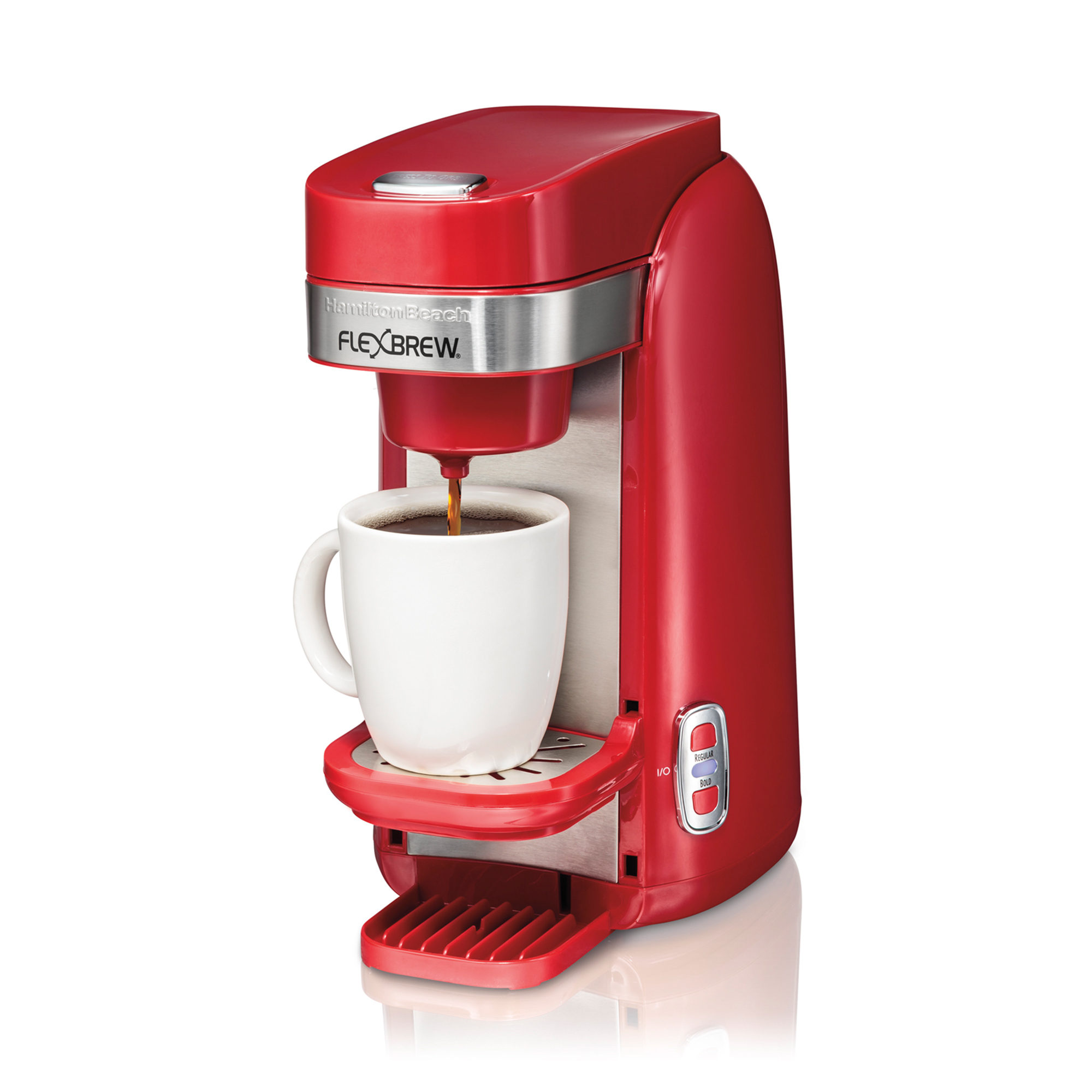 hamilton beach flexbrew single serve kcup compatible coffee maker  - hamilton beach flexbrew single serve kcup compatible coffee maker red