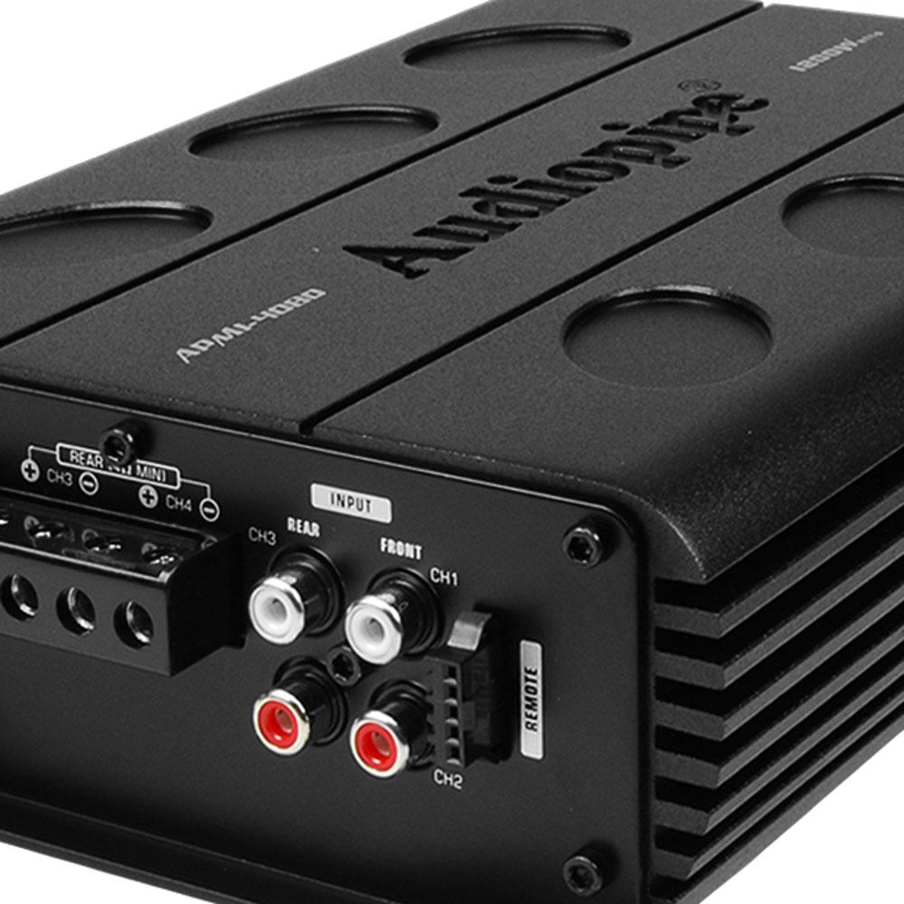 Audiopipe APMI-4080 1200W Amp Car Audio Speaker Amplifier + 8-Gauge ...