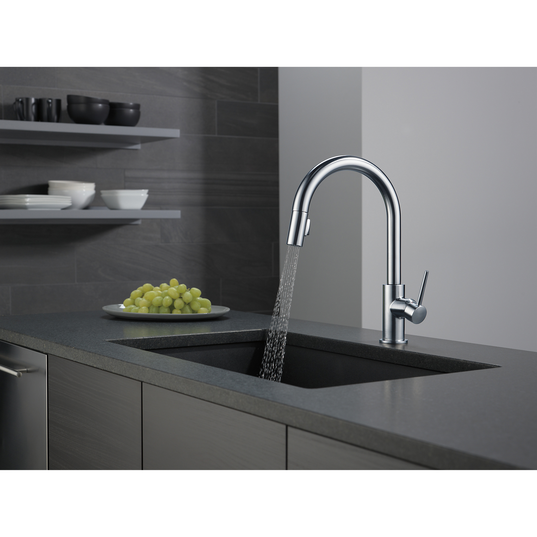 Delta Single Handle Trinsic Bar/ Prep Sink Faucet, Arctic Stainless ...