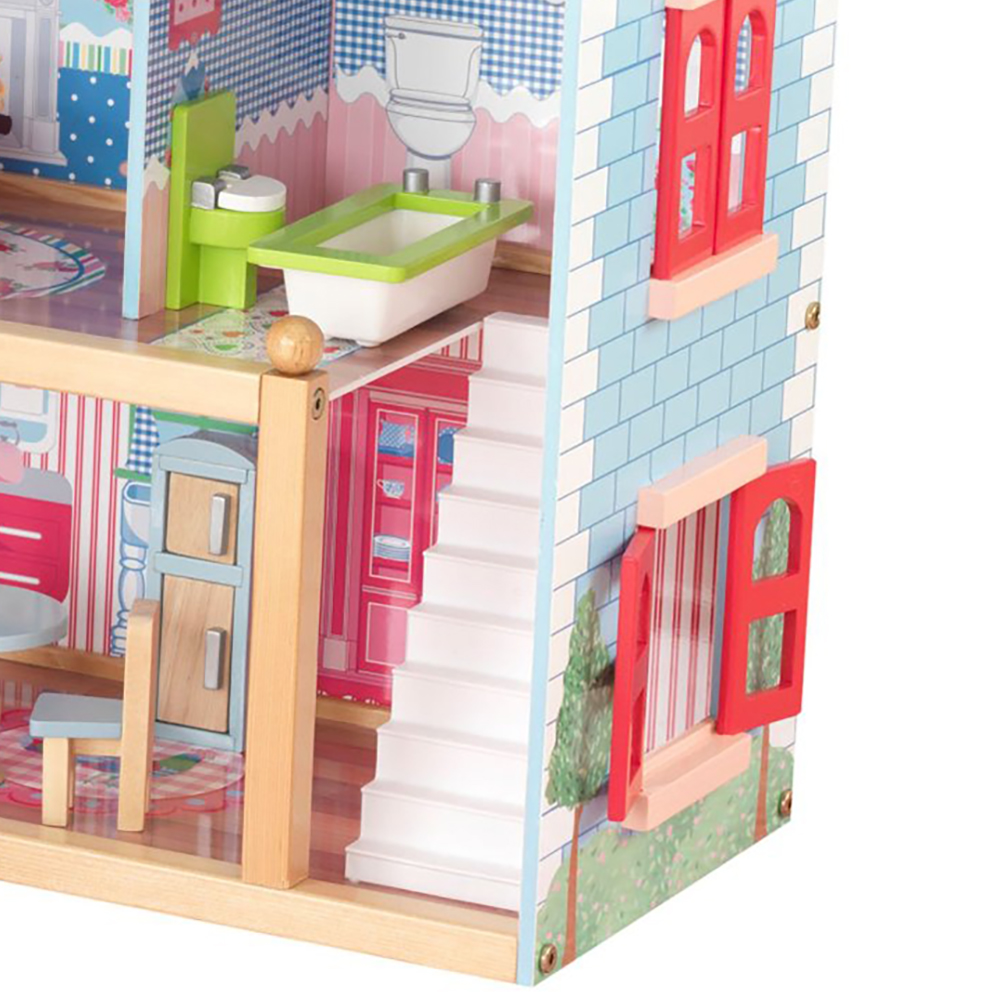 Kidkraft Chelsea Wooden Dollhouse Pretend Play House Cottage W Furniture 65054 Ebay