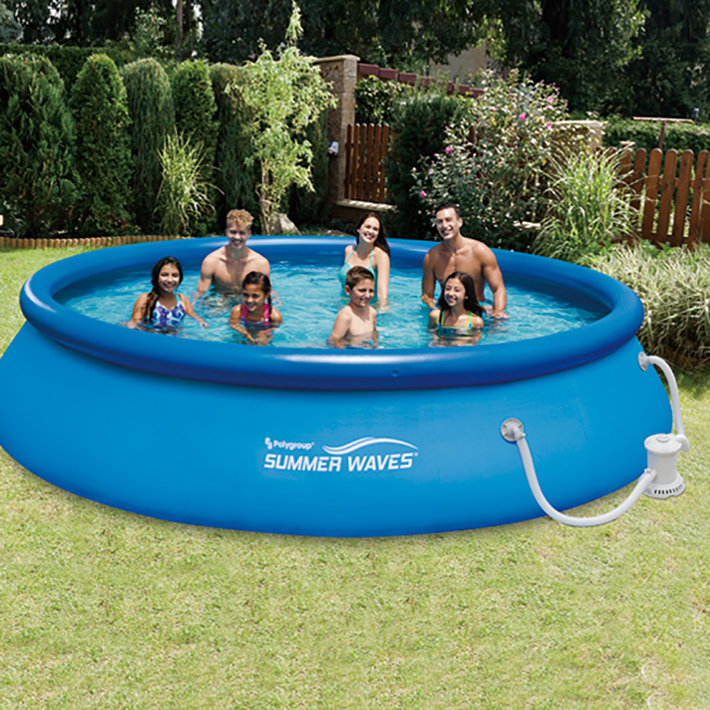 Summer Waves X Quick Set Inflatable Above Ground Pool With