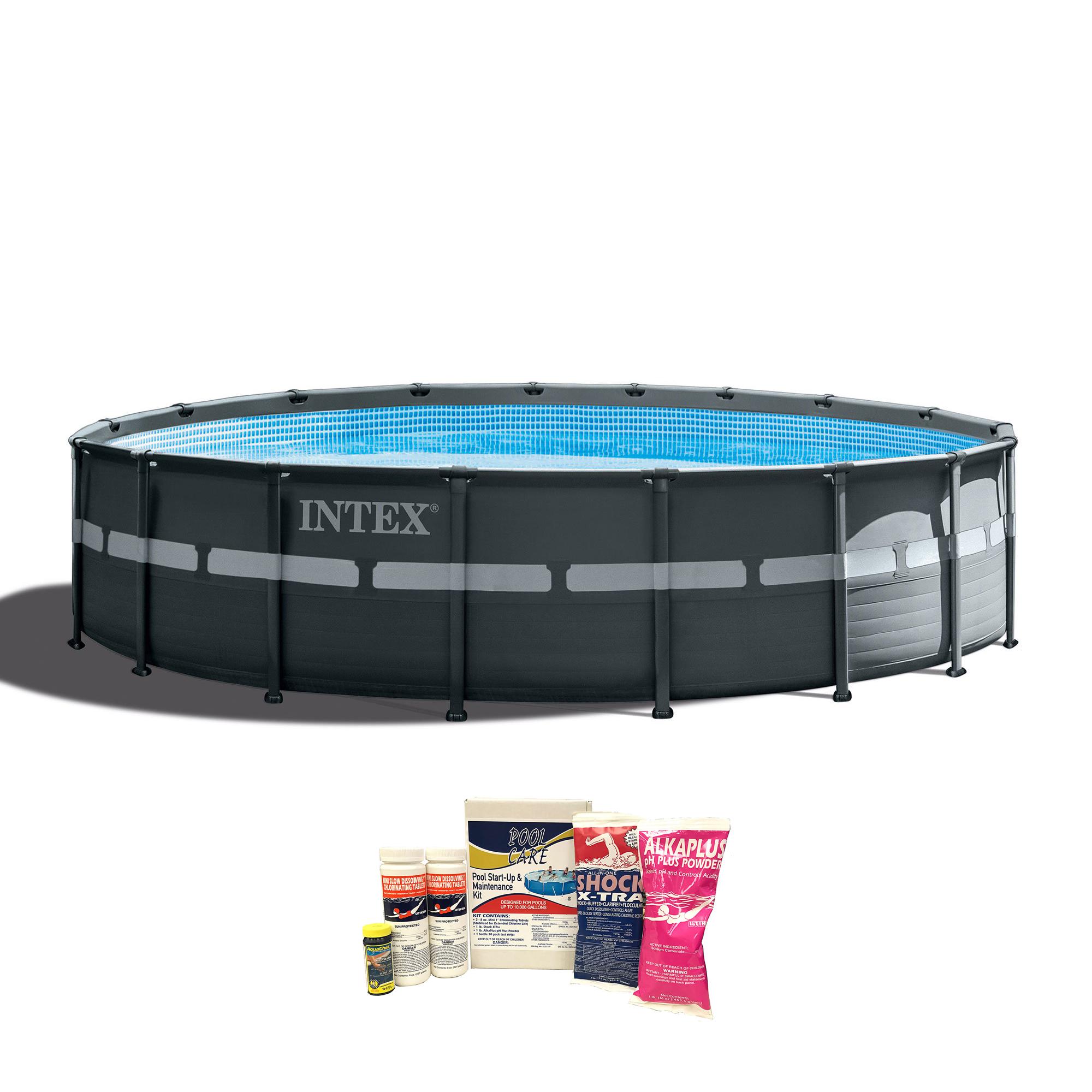 Intex 18x52 Ultra Xtra Frame Above Ground Pool W Pump Chemical