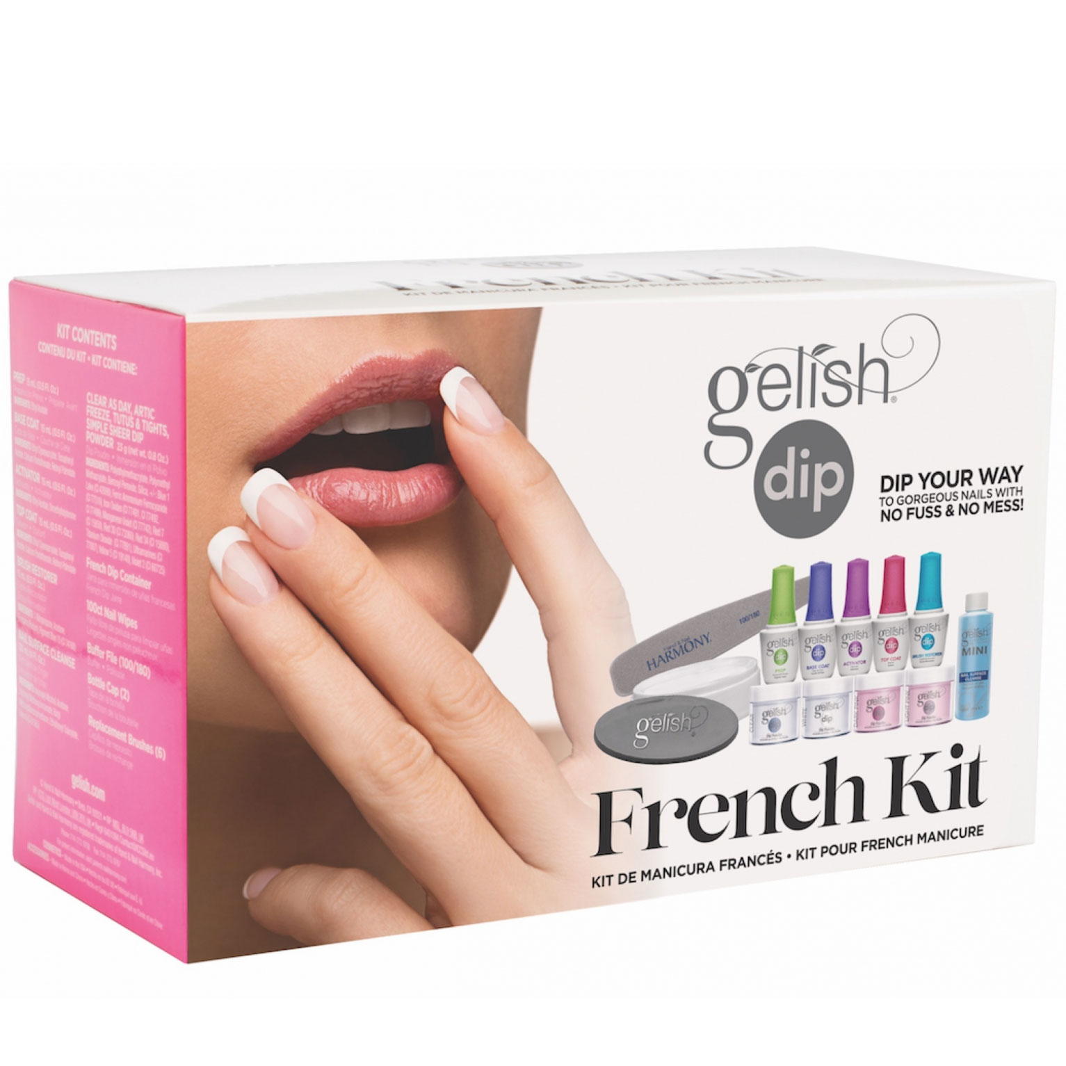 Nail Dip Powder Non Acrylic: Gelish Soak Off French Tip Acrylic Powder Nail Polish Dip
