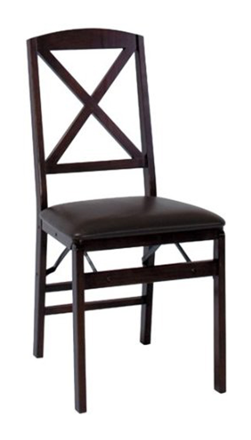 Cosco Wood Folding Chair w Vinyl Seat 2 Pack