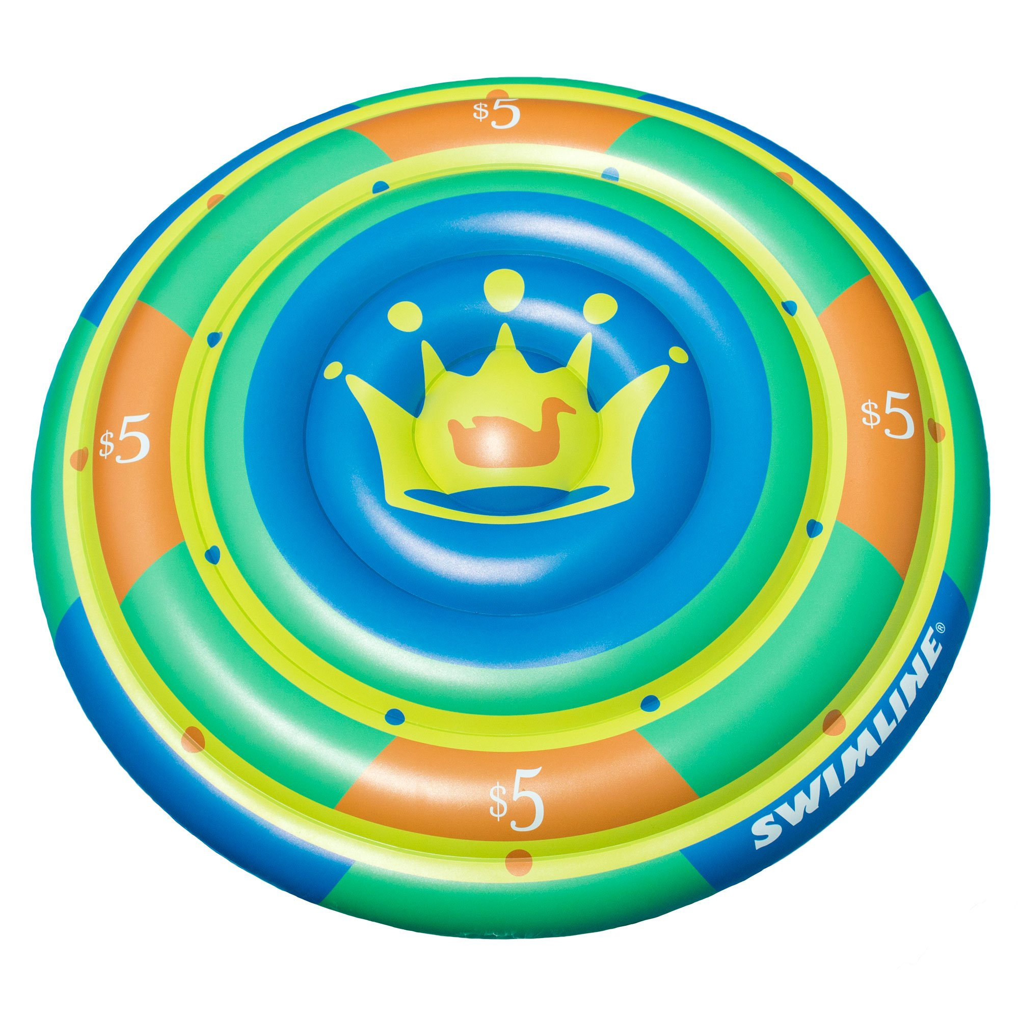Swimline 60-Inch Inflatable Heavy-Duty Swimming Pool Orange Slice Float 2 Pack