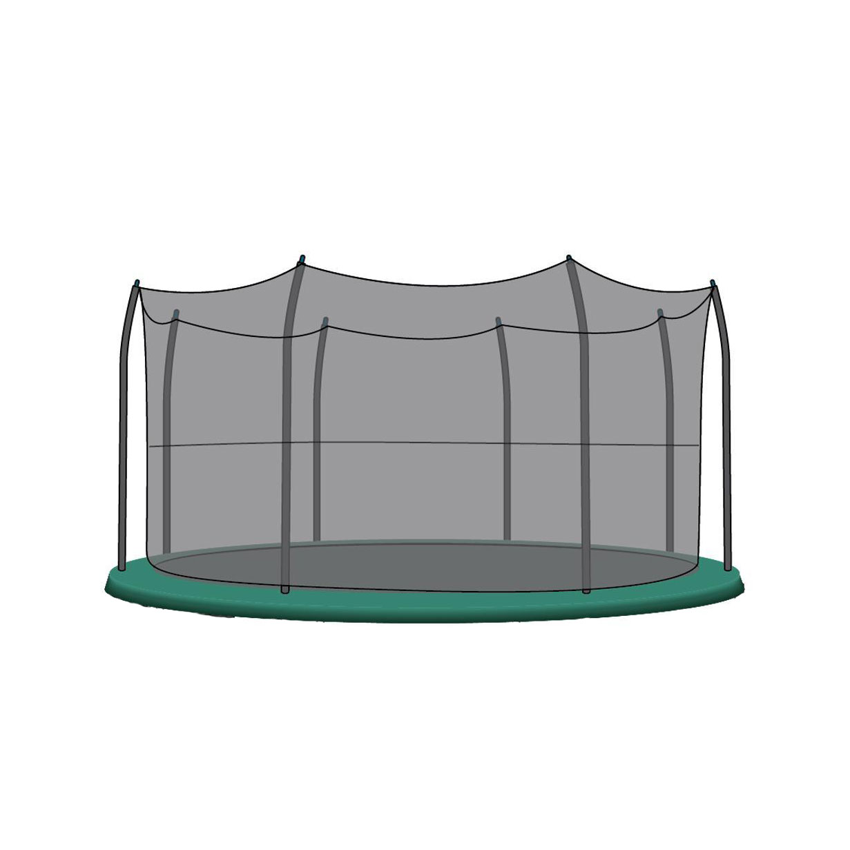 SkyBound 15 Ft Replacement Trampoline Enclosure Net For 8
