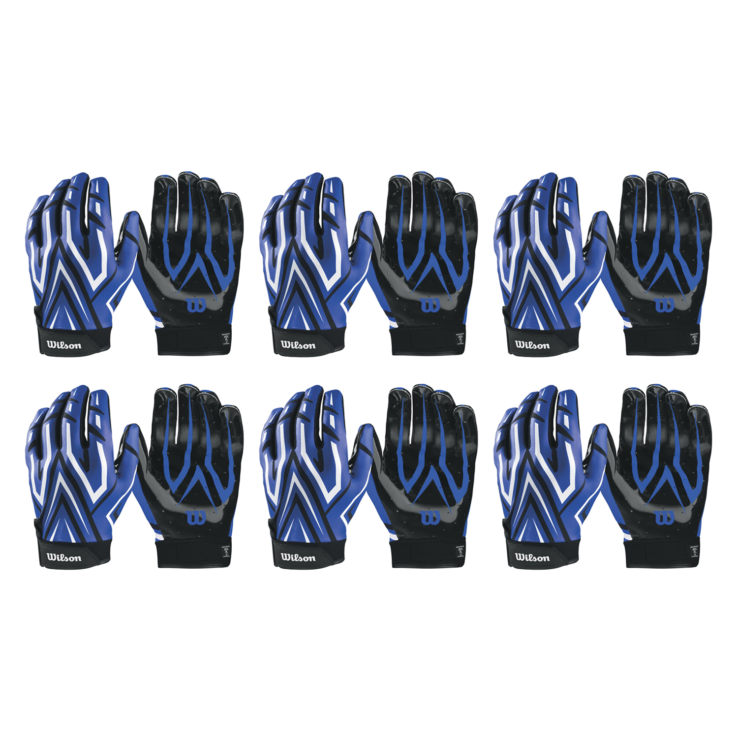ae81b4017e5 Details about Wilson Adult MVP Clutch Skill Football Running Back Receiver  Gloves