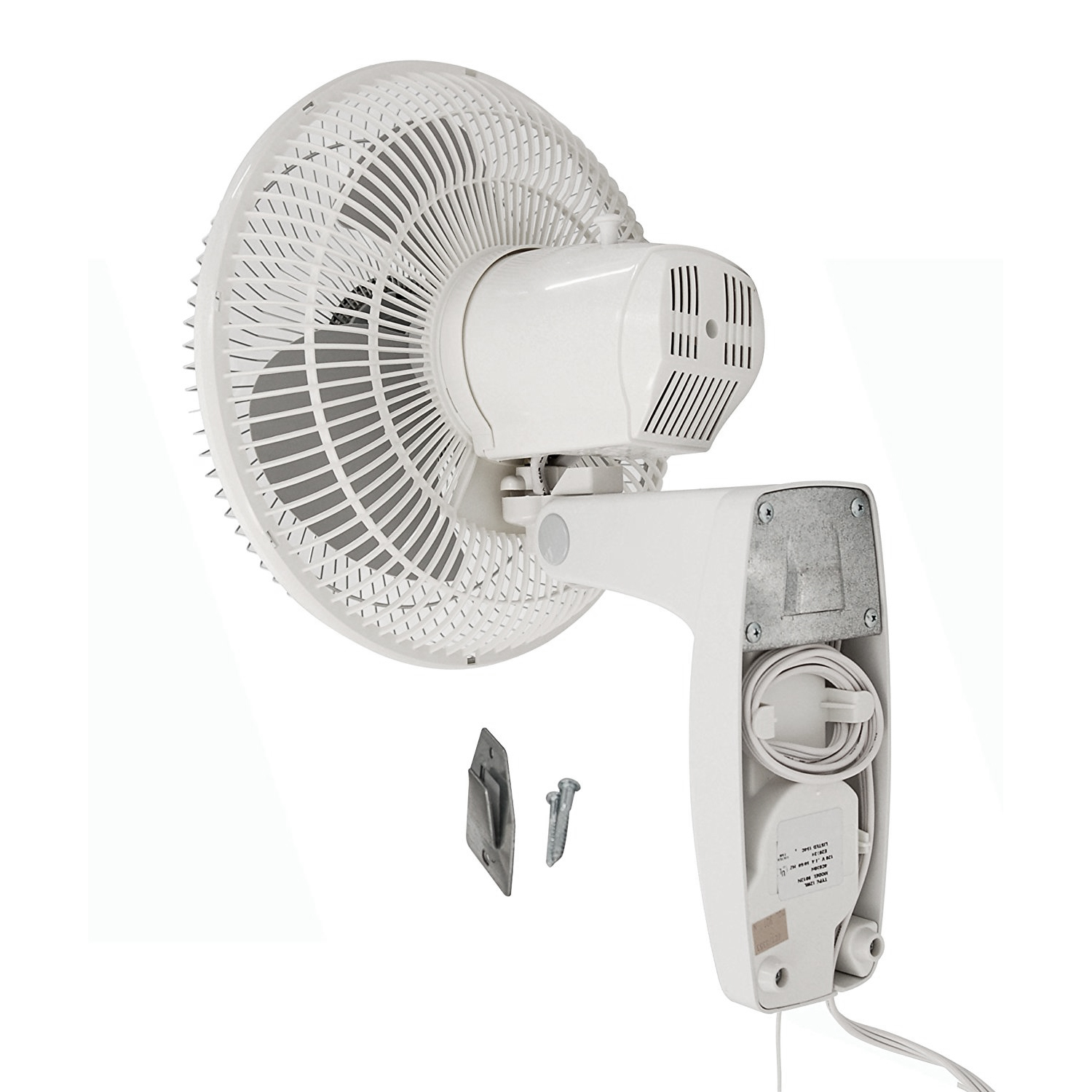 Brackets For Wall Mount Oscillating Fans : Air king inch residential grade oscillating blade