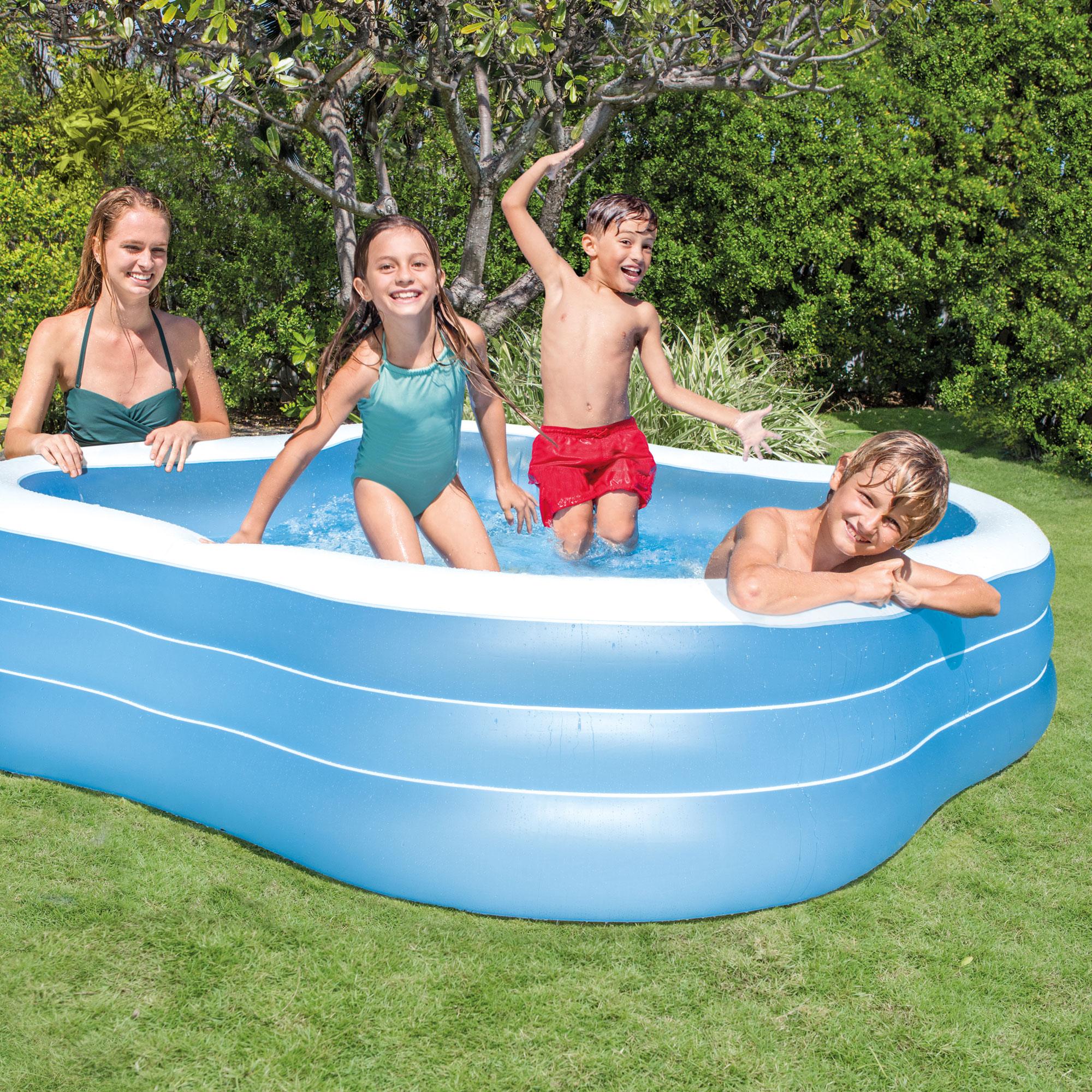 Intex swim center backyard inflatable play swimming pool for family and kids ebay - Intex swim center family pool ...