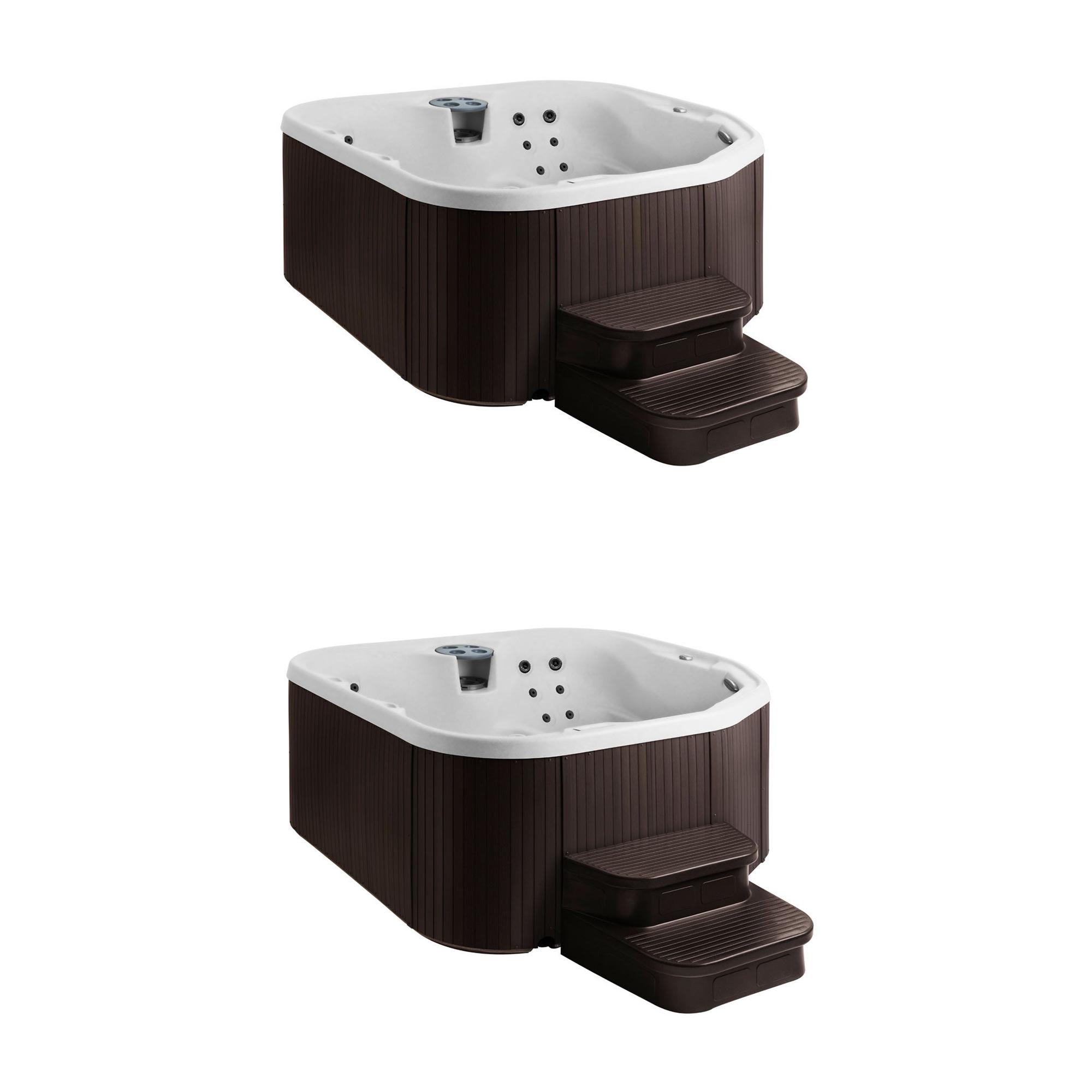 Admirable Lifesmart Spas 22 Jet 5 Person Hot Tub With Multi Color Led Lights 2 Pack Machost Co Dining Chair Design Ideas Machostcouk