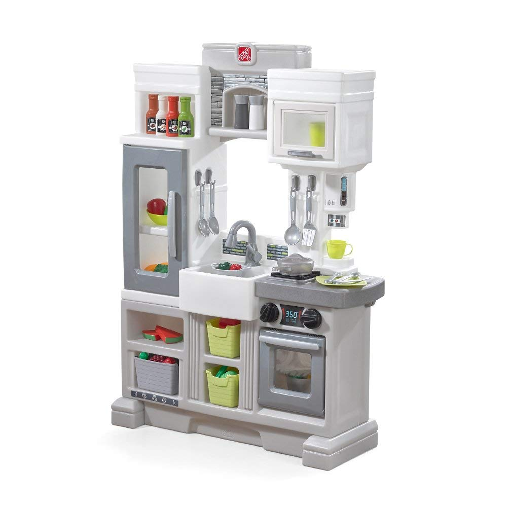 Step2 Downtown Delights Pretend Play Toy Kitchen Set 733538482696 Ebay
