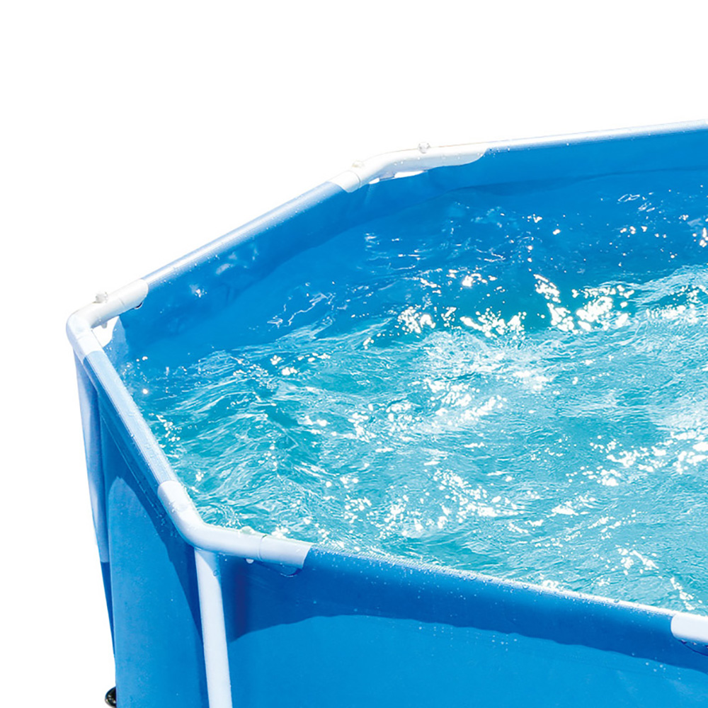 Summer Waves 8 39 Ft Metal Frame Above Ground Pool With Filter Pump Ebay