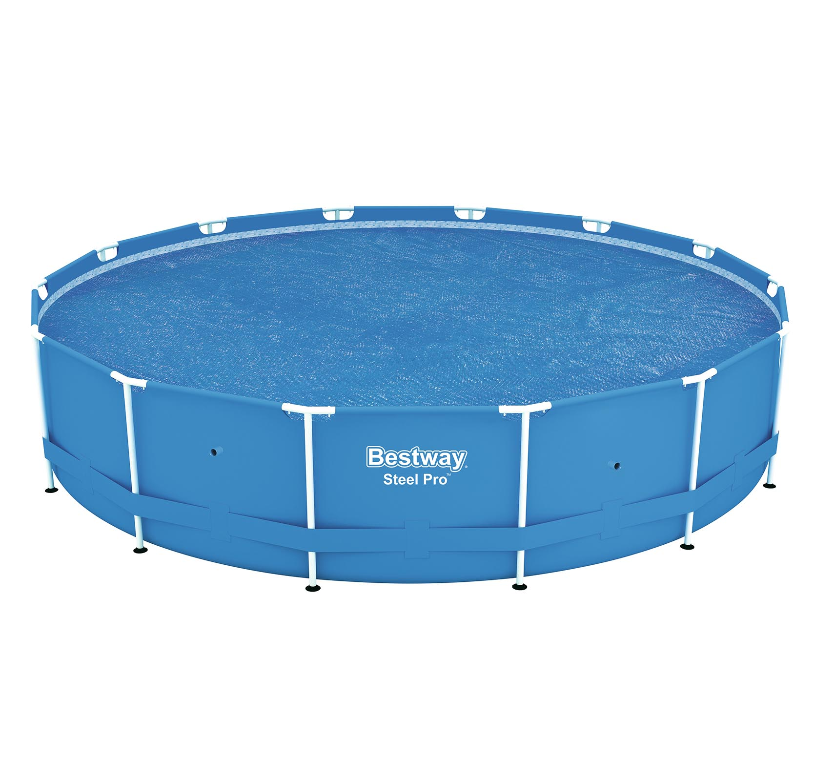Bestway 14 39 Round Floating Above Ground Swimming Pool Solar Heat Cover 58252e Ebay