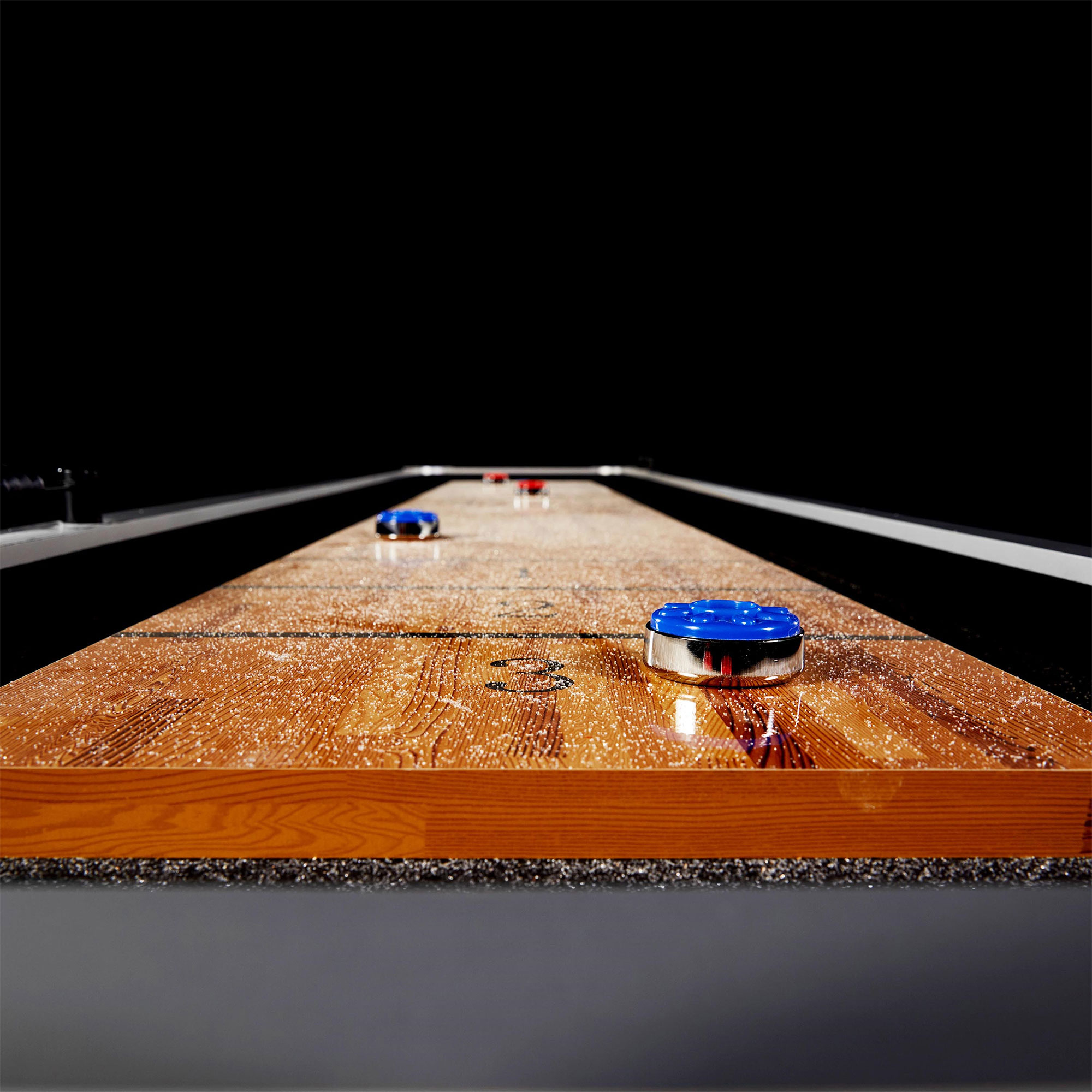 Lancaster Foot Standard Shuffleboard Family Game Table With Pucks - Standard shuffleboard table