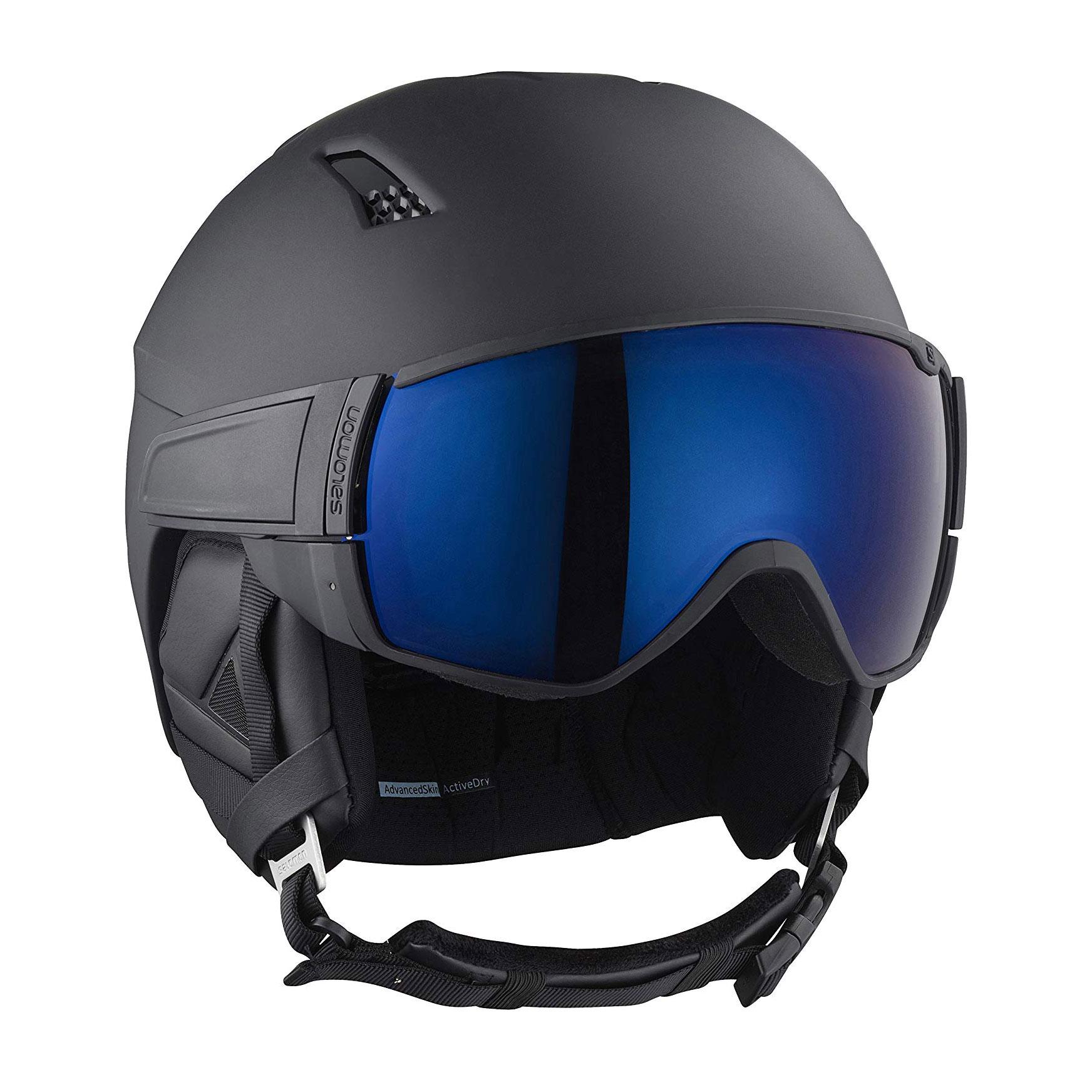 4db9e8a0 Details about Salomon Driver S Men and Women's Black Ski Snowboard Visor  Helmet, Size Small